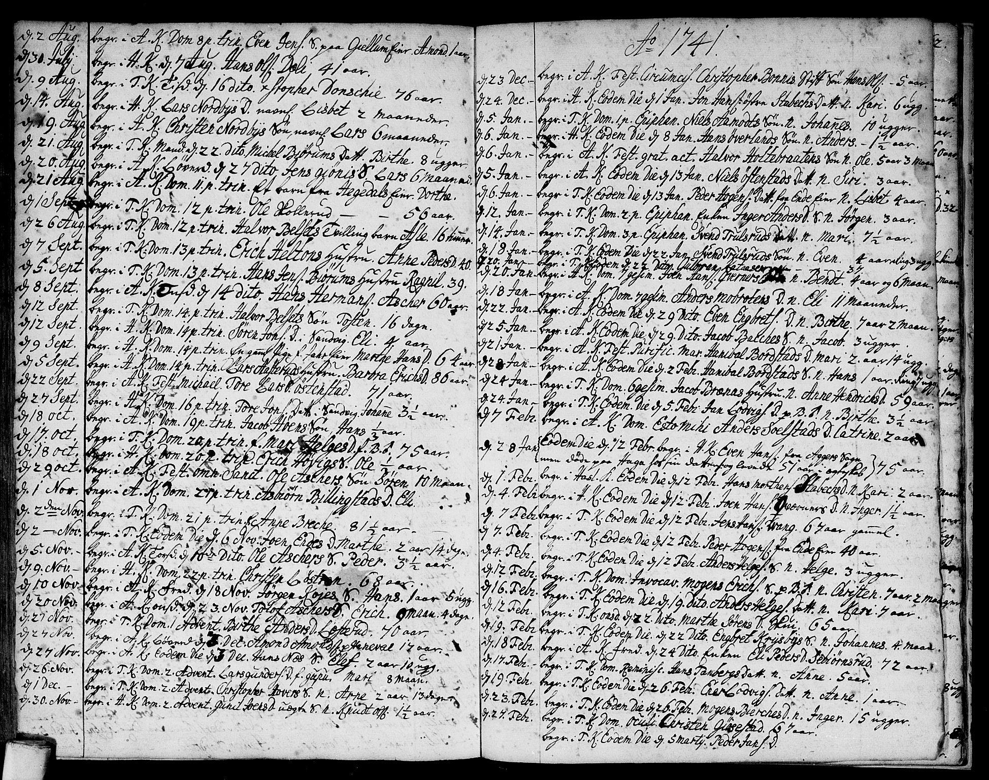 SAO, Asker prestekontor Kirkebøker, F/Fa/L0001: Ministerialbok nr. I 1, 1726-1744, s. 106