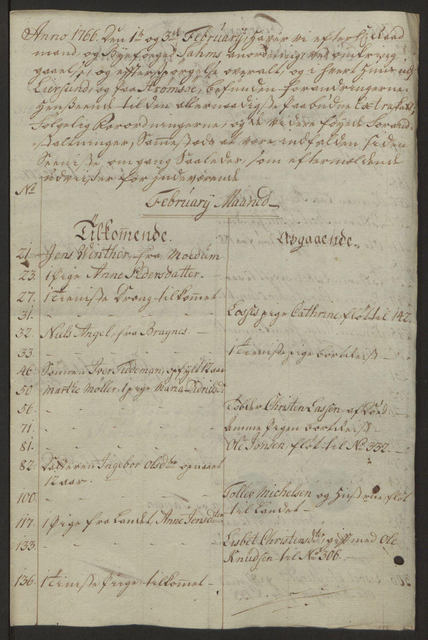 RA, Rentekammeret inntil 1814, Reviderte regnskaper, Byregnskaper, R/Rg/L0144: [G4] Kontribusjonsregnskap, 1762-1767, s. 448