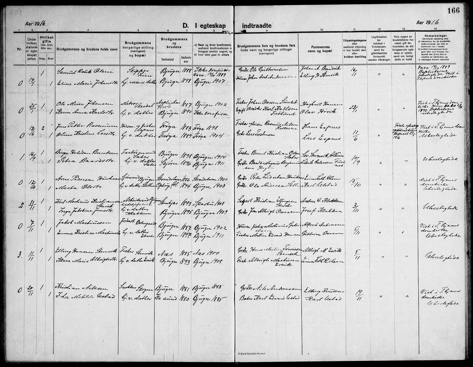SAT, Ministerialprotokoller, klokkerbøker og fødselsregistre - Sør-Trøndelag, 651/L0648: Klokkerbok nr. 651C02, 1915-1945, s. 166