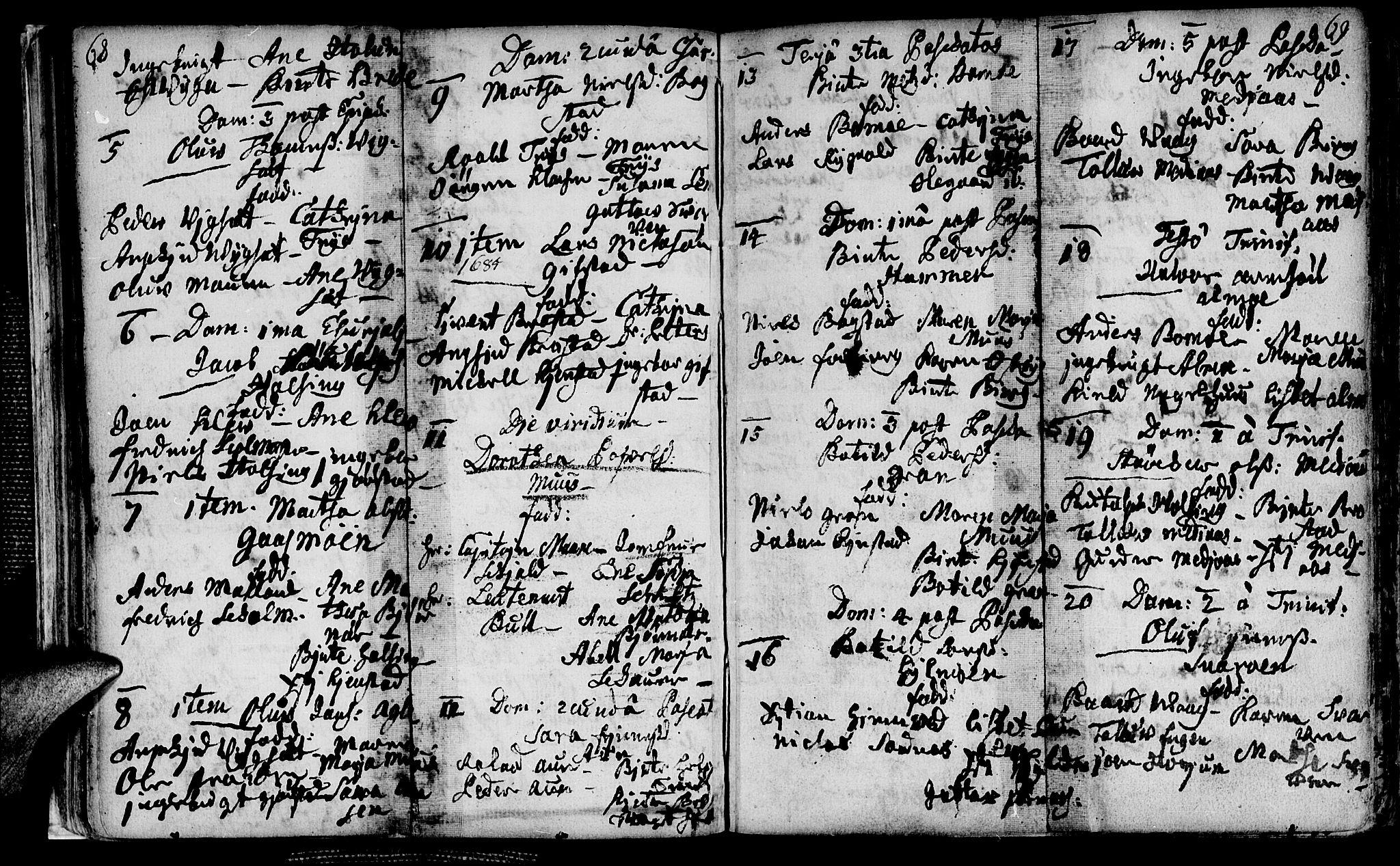 SAT, Ministerialprotokoller, klokkerbøker og fødselsregistre - Nord-Trøndelag, 749/L0467: Ministerialbok nr. 749A01, 1733-1787, s. 68-69