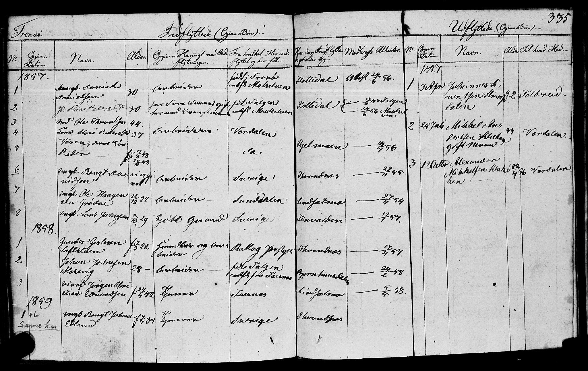 SAT, Ministerialprotokoller, klokkerbøker og fødselsregistre - Nord-Trøndelag, 762/L0538: Ministerialbok nr. 762A02 /2, 1833-1879, s. 335