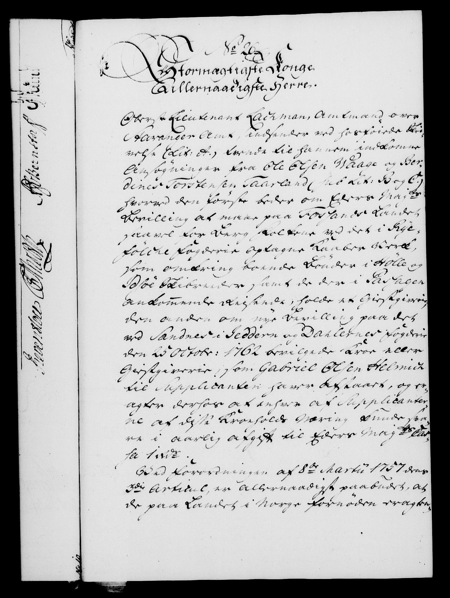 RA, Rentekammeret, Kammerkanselliet, G/Gf/Gfa/L0047: Norsk relasjons- og resolusjonsprotokoll (merket RK 52.47), 1765, s. 135