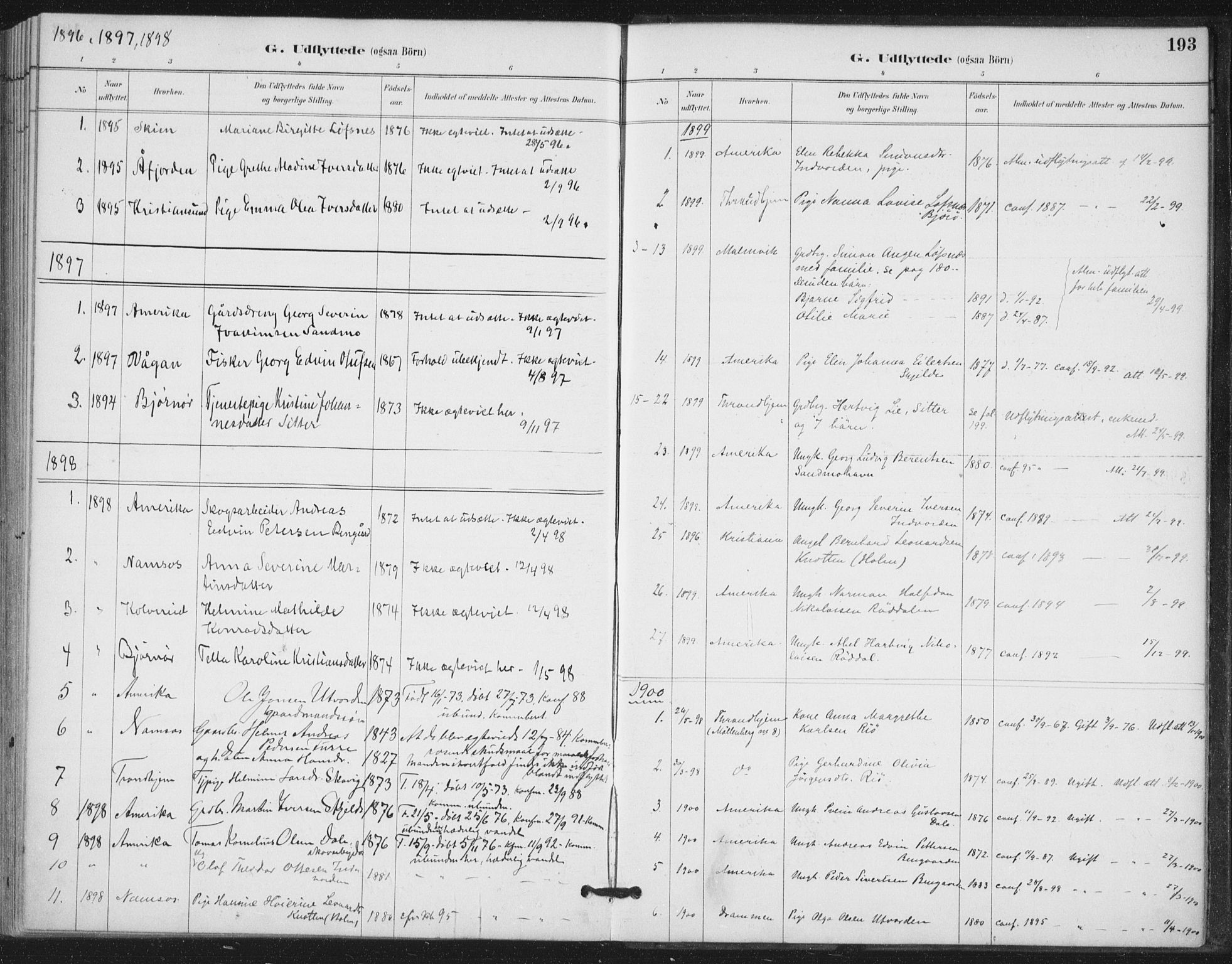 SAT, Ministerialprotokoller, klokkerbøker og fødselsregistre - Nord-Trøndelag, 772/L0603: Ministerialbok nr. 772A01, 1885-1912, s. 193