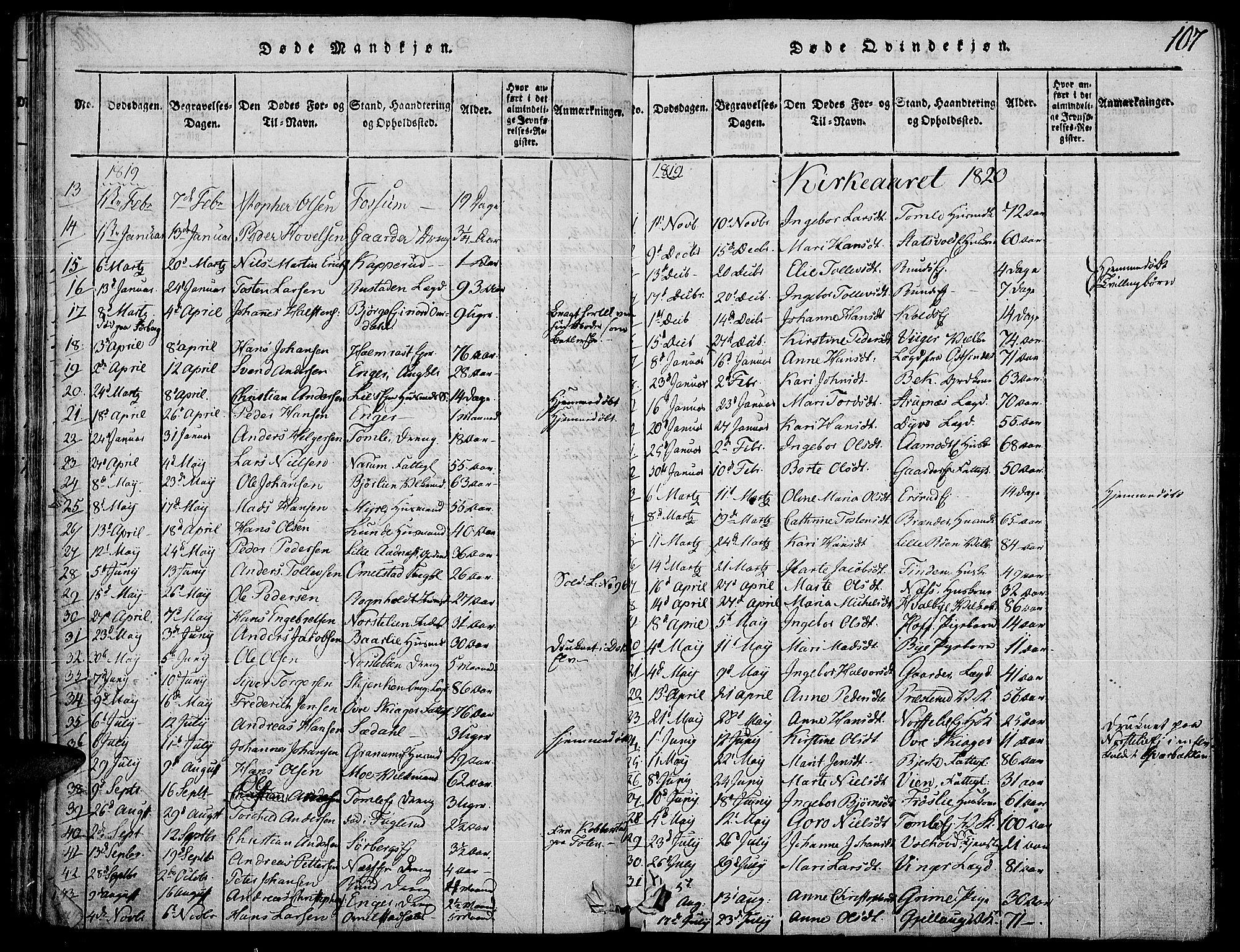 SAH, Land prestekontor, Ministerialbok nr. 7, 1814-1830, s. 107