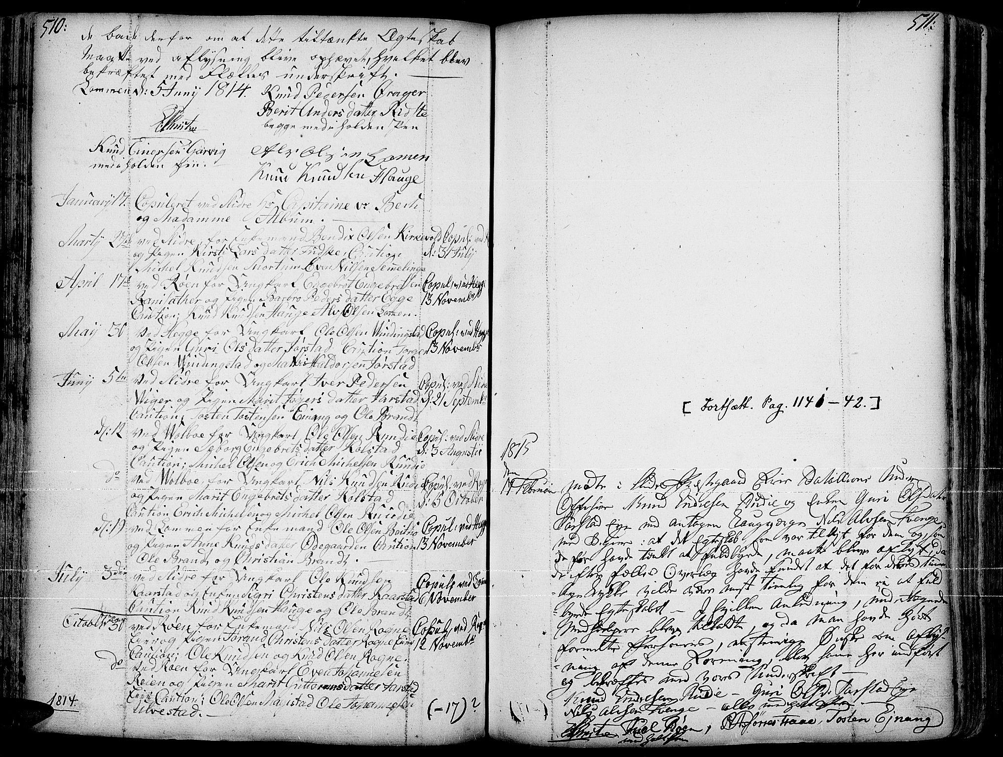 SAH, Slidre prestekontor, Ministerialbok nr. 1, 1724-1814, s. 510-511