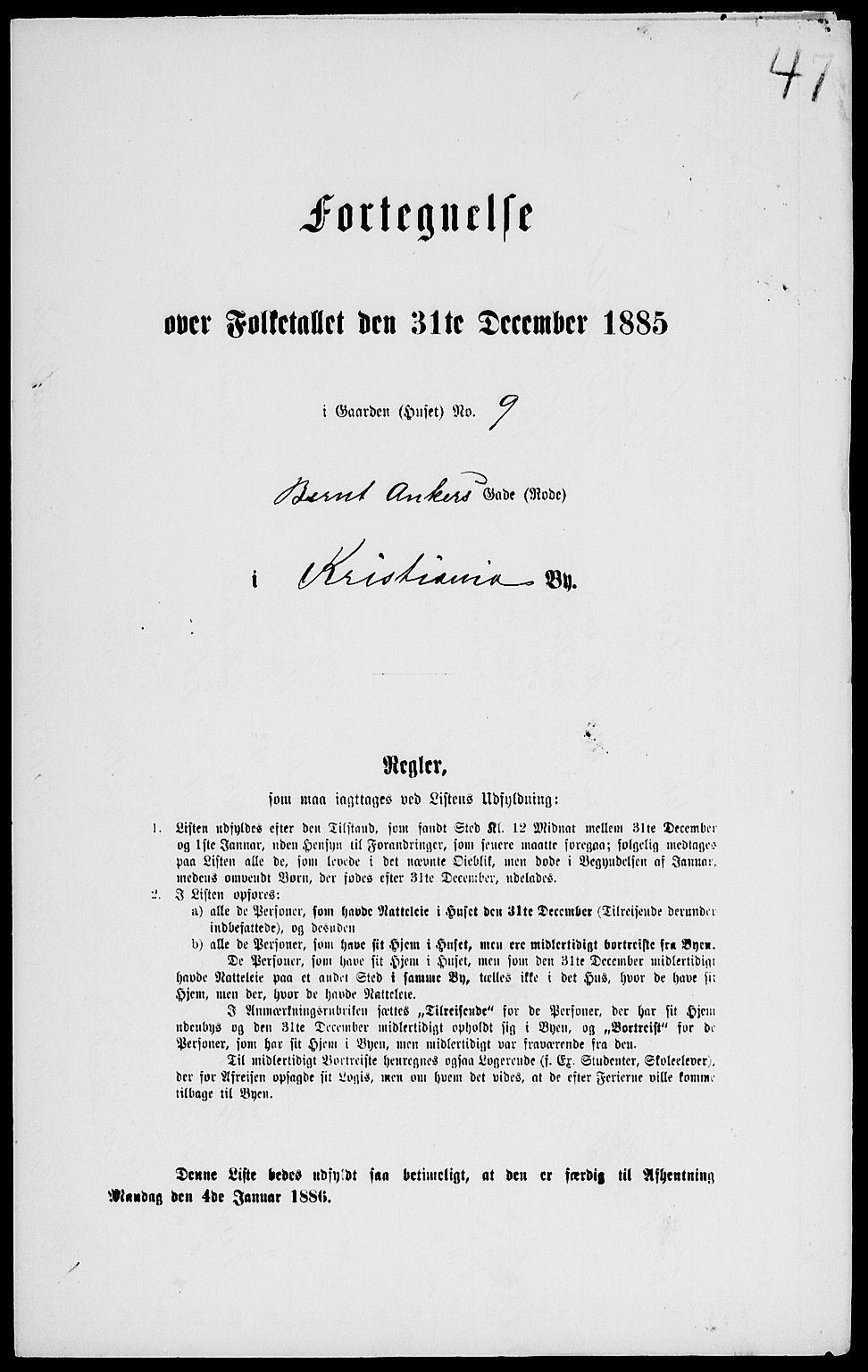 RA, Folketelling 1885 for 0301 Kristiania kjøpstad, 1885, s. 5725