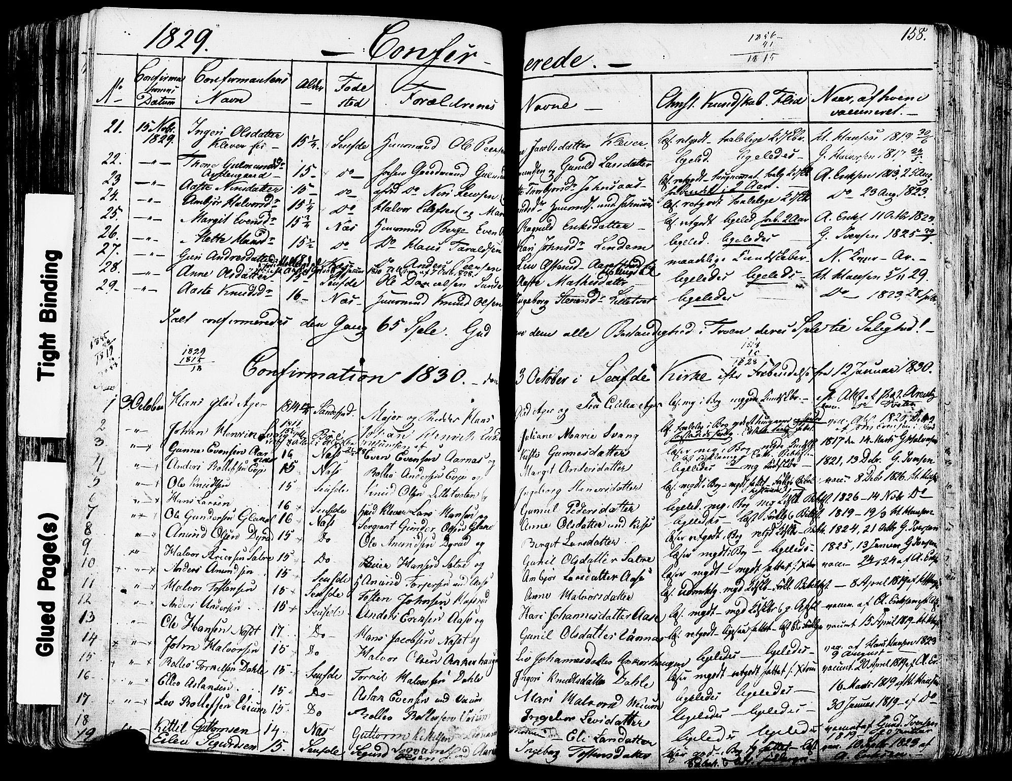 SAKO, Sauherad kirkebøker, F/Fa/L0006: Ministerialbok nr. I 6, 1827-1850, s. 158