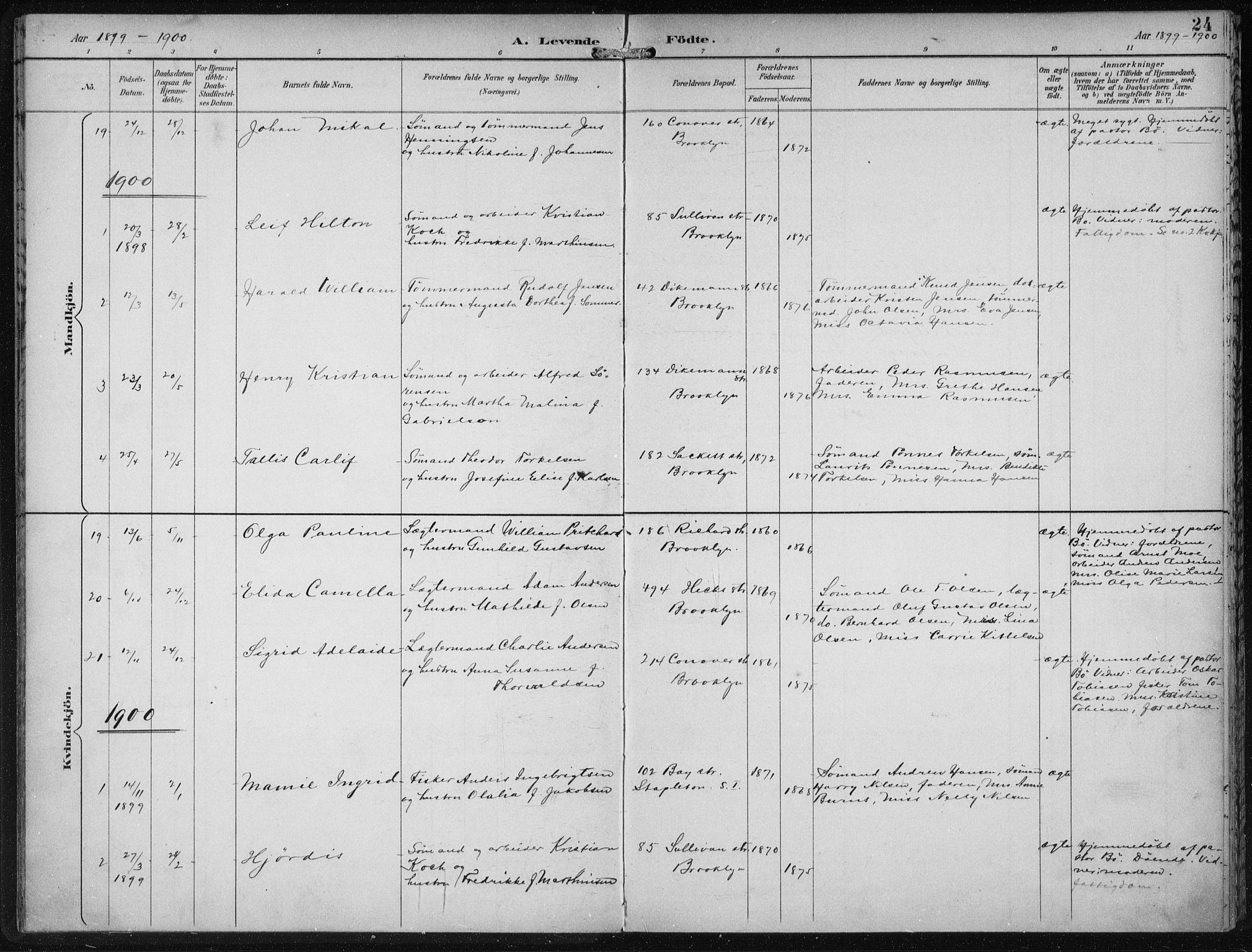 SAB, Den Norske Sjømannsmisjon i utlandet*, Ministerialbok nr. A 4, 1893-1901, s. 24