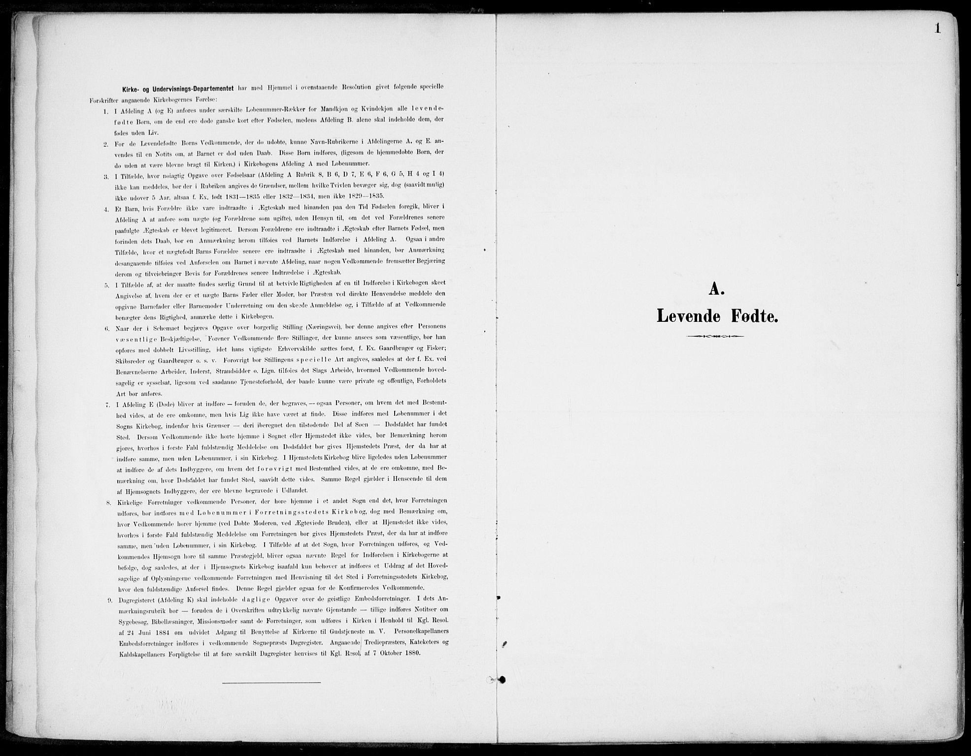 SAKO, Gjerpen kirkebøker, F/Fa/L0011: Ministerialbok nr. 11, 1896-1904, s. 1