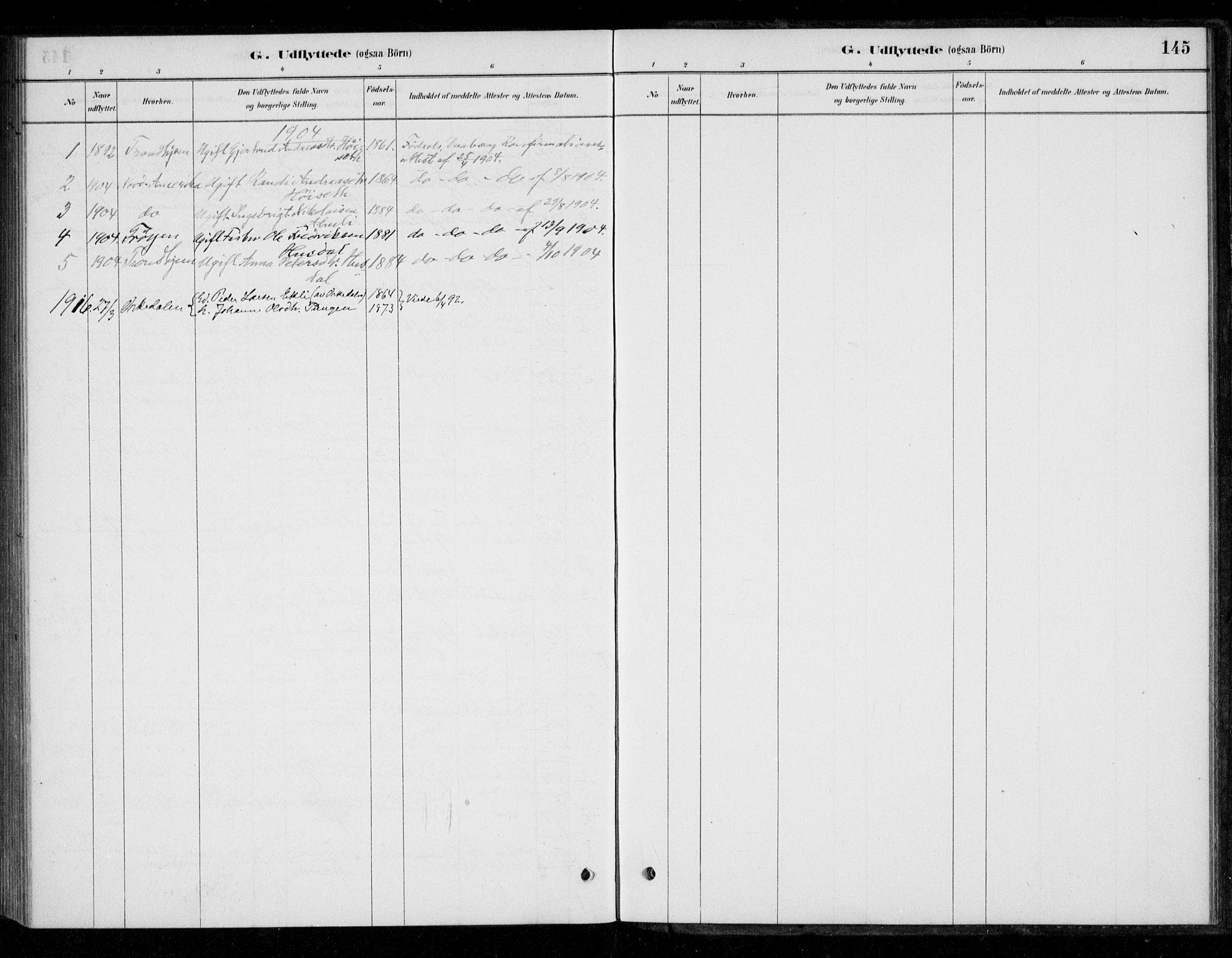 SAT, Ministerialprotokoller, klokkerbøker og fødselsregistre - Sør-Trøndelag, 670/L0836: Ministerialbok nr. 670A01, 1879-1904, s. 145