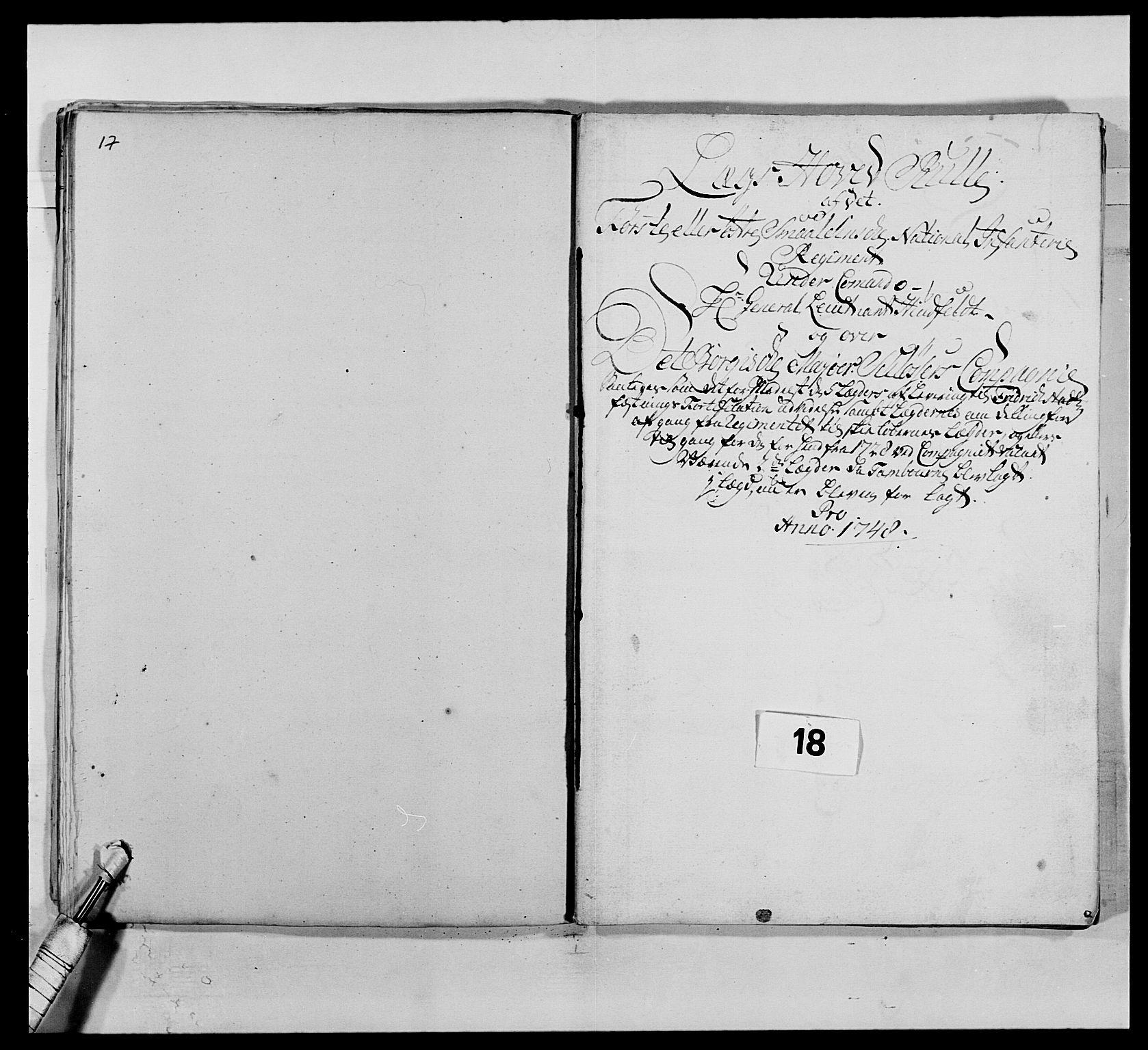 RA, Kommanderende general (KG I) med Det norske krigsdirektorium, E/Ea/L0495: 1. Smålenske regiment, 1732-1763, s. 225