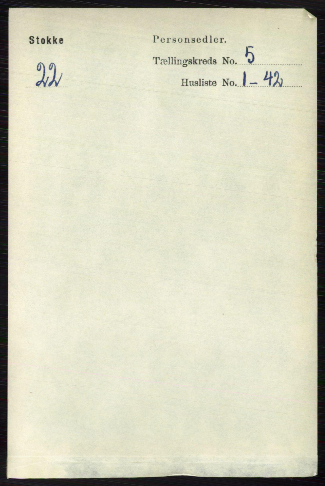 RA, Folketelling 1891 for 0720 Stokke herred, 1891, s. 3113