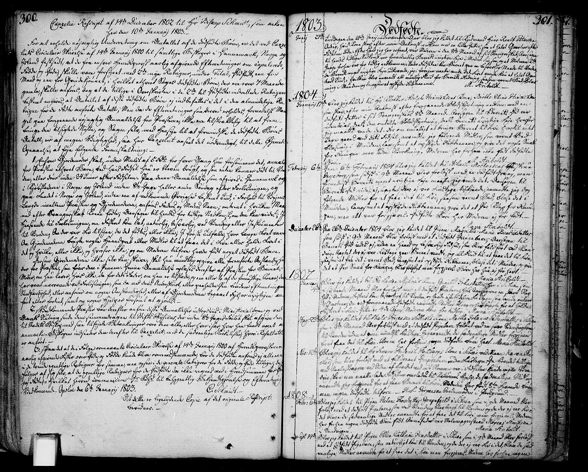 SAKO, Skien kirkebøker, F/Fa/L0004: Ministerialbok nr. 4, 1792-1814, s. 300-301