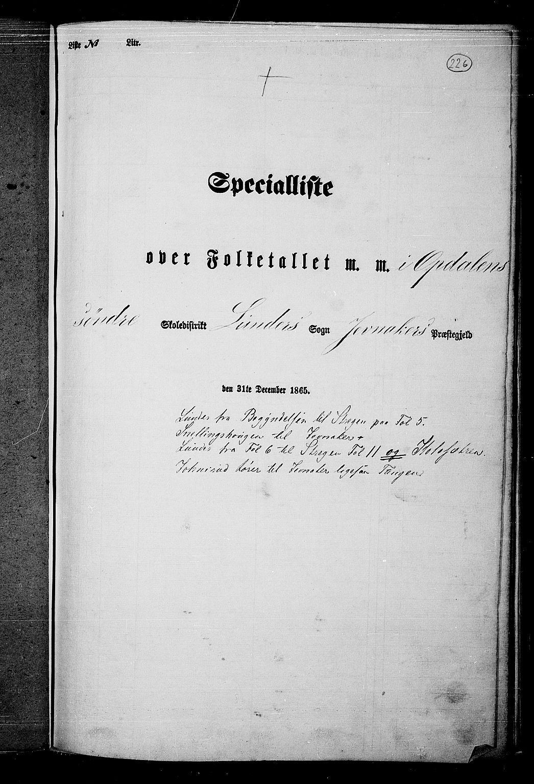 RA, Folketelling 1865 for 0532P Jevnaker prestegjeld, 1865, s. 210