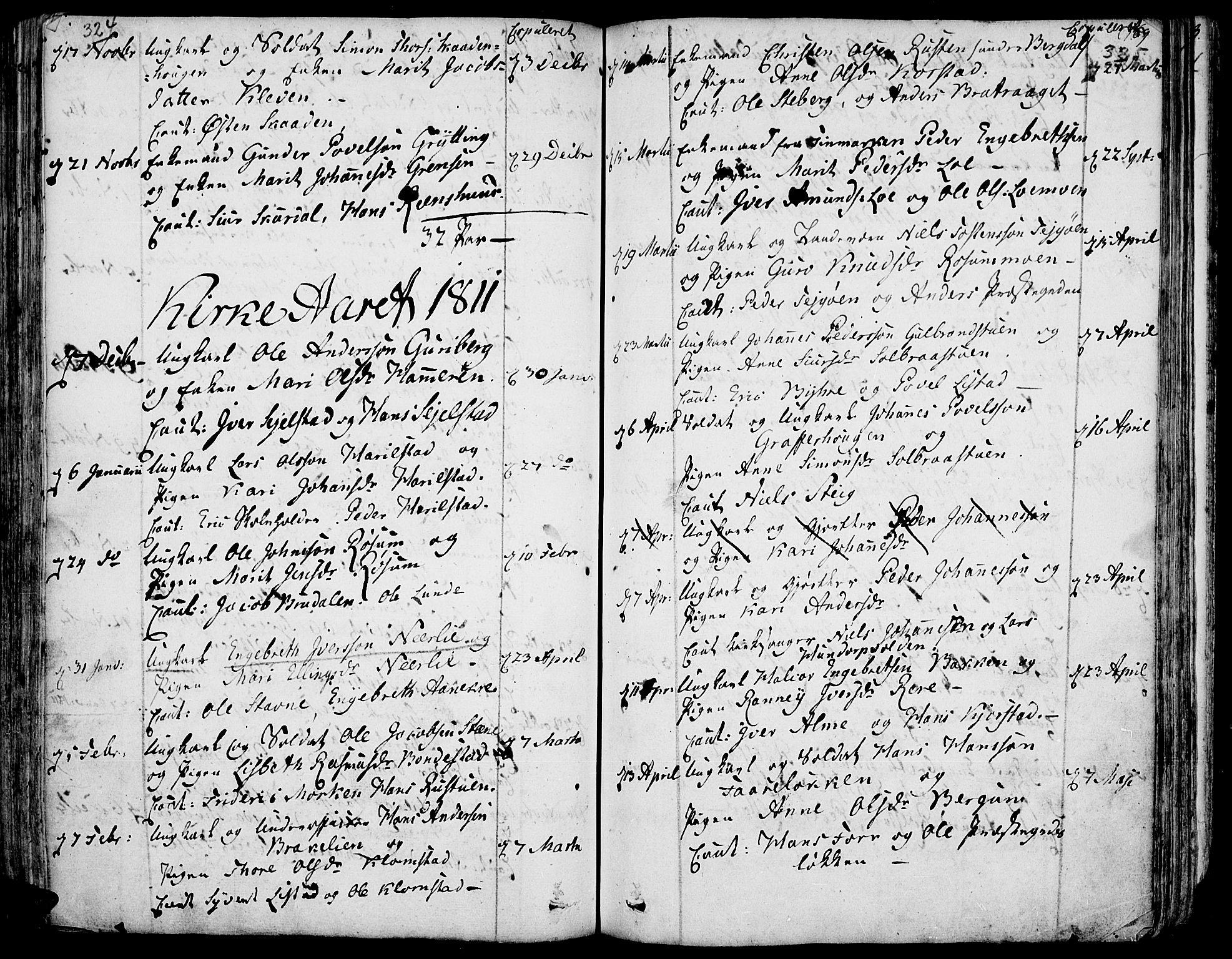 SAH, Fron prestekontor, H/Ha/Haa/L0001: Ministerialbok nr. 1, 1799-1816, s. 324-325
