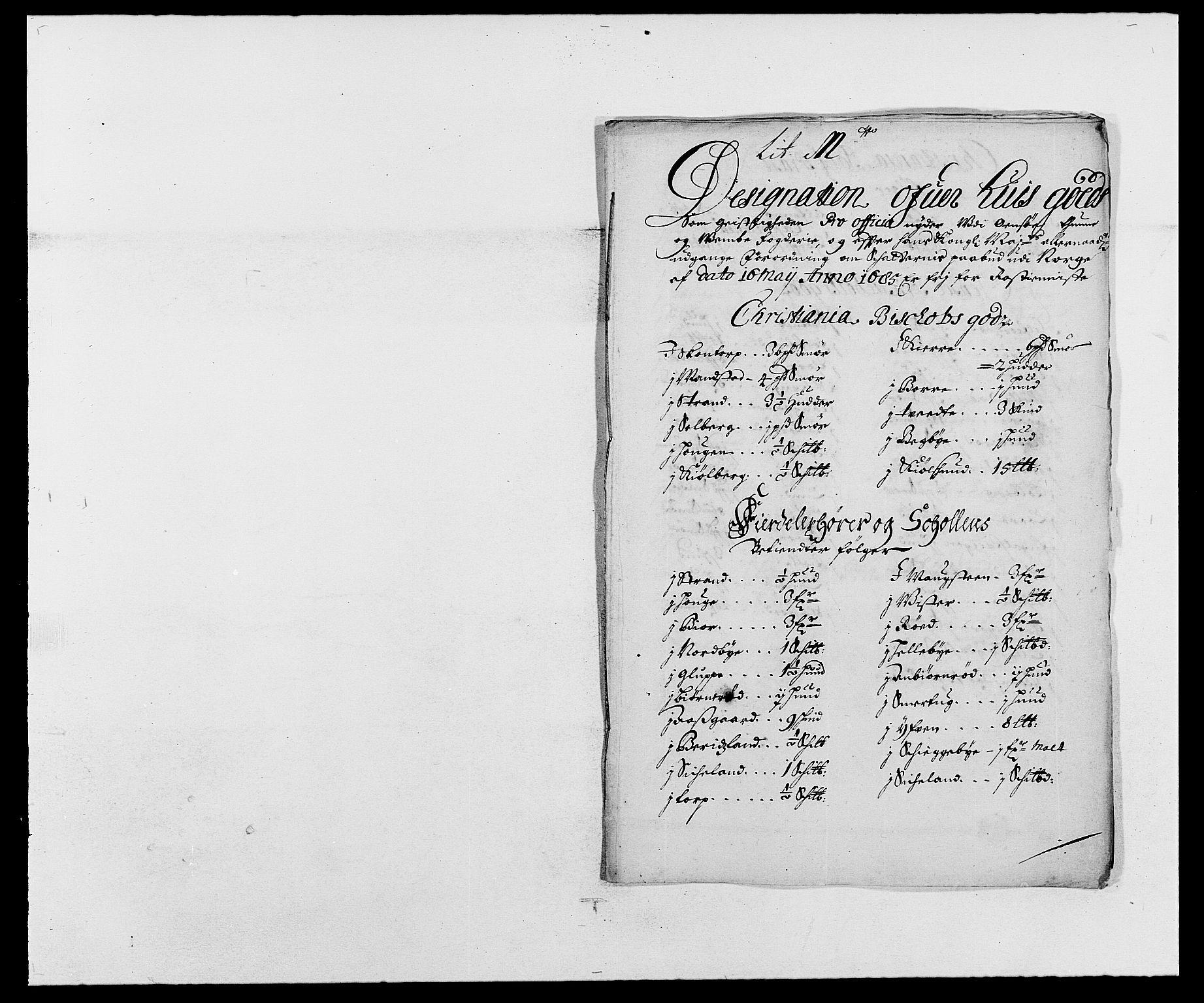 RA, Rentekammeret inntil 1814, Reviderte regnskaper, Fogderegnskap, R03/L0116: Fogderegnskap Onsøy, Tune, Veme og Åbygge fogderi, 1684-1689, s. 137