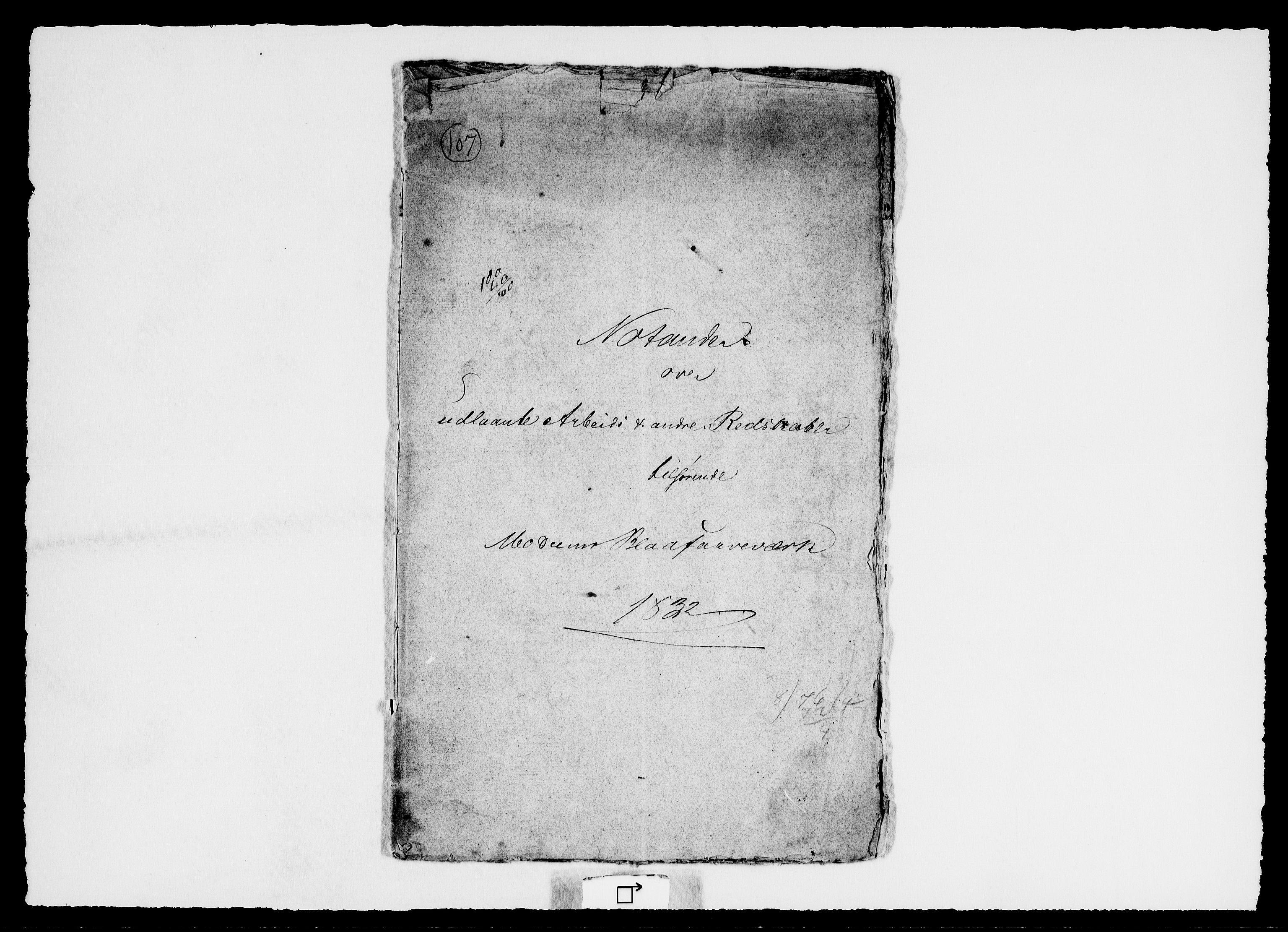 RA, Modums Blaafarveværk, G/Ge/L0363, 1831-1851, s. 2