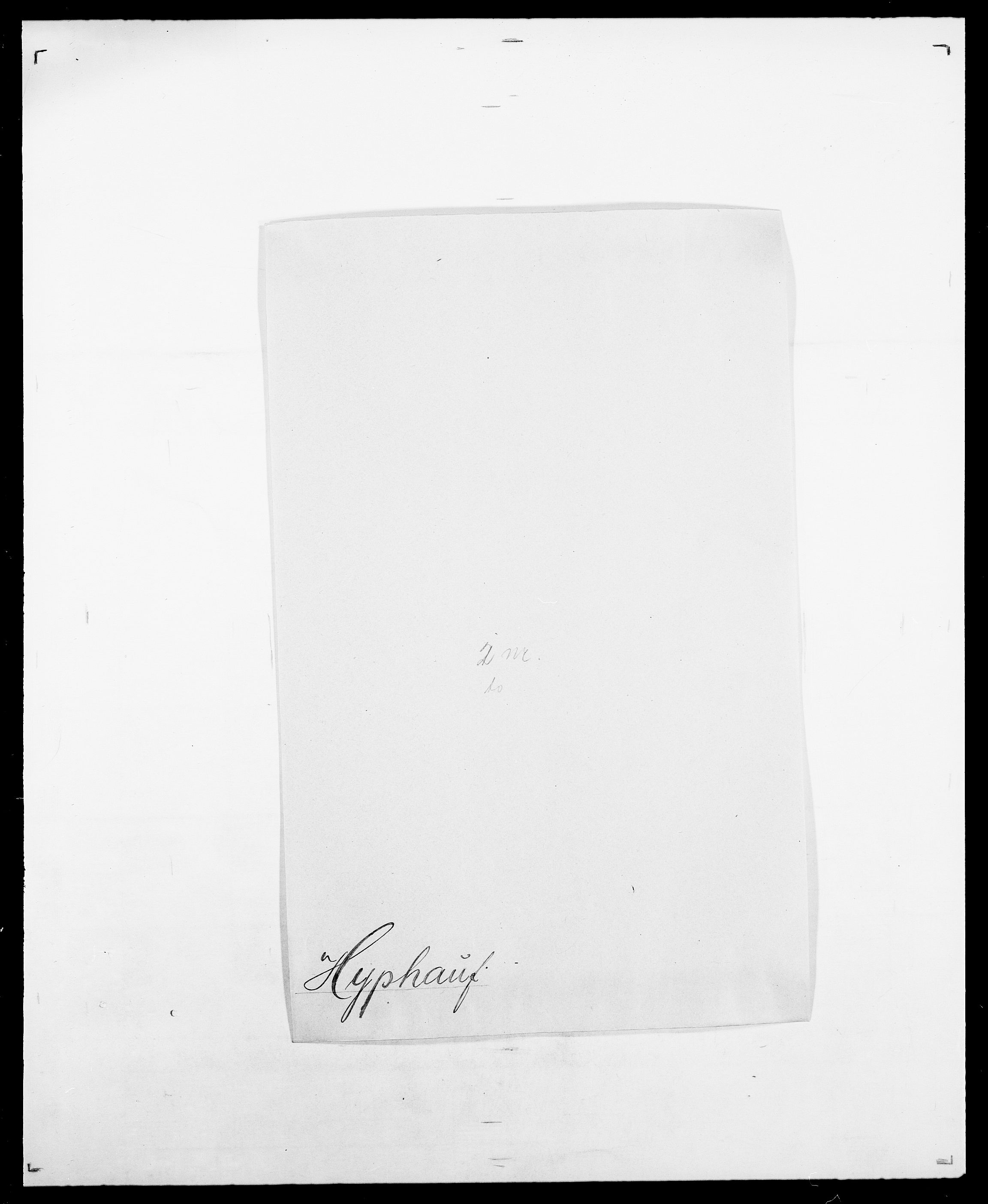 SAO, Delgobe, Charles Antoine - samling, D/Da/L0019: van der Hude - Joys, s. 290
