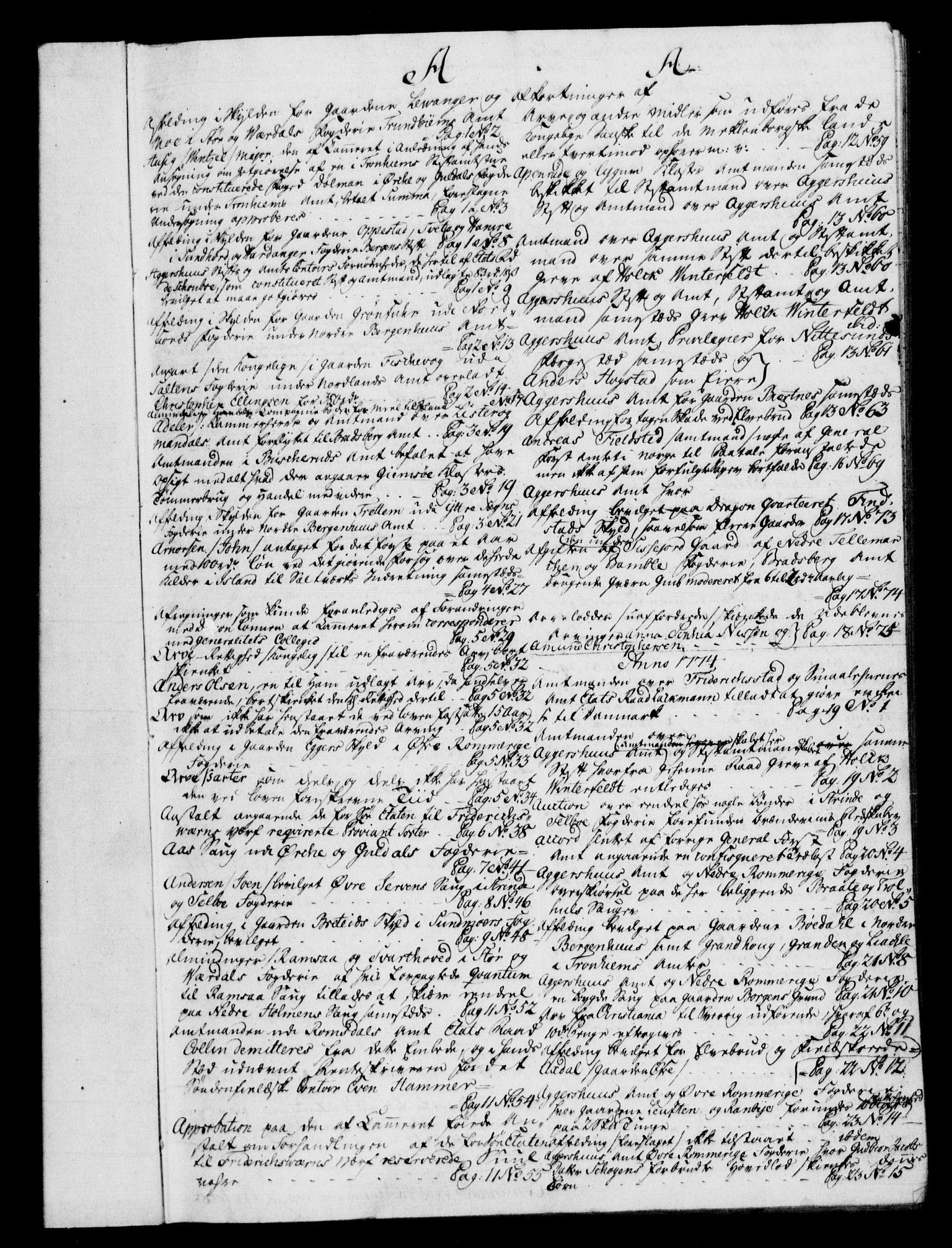 RA, Rentekammeret, Kammerkanselliet, G/Gf/Gfb/L0009: Register til norske relasjons- og resolusjonsprotokoller (merket RK 52.104), 1773-1780, s. upaginert