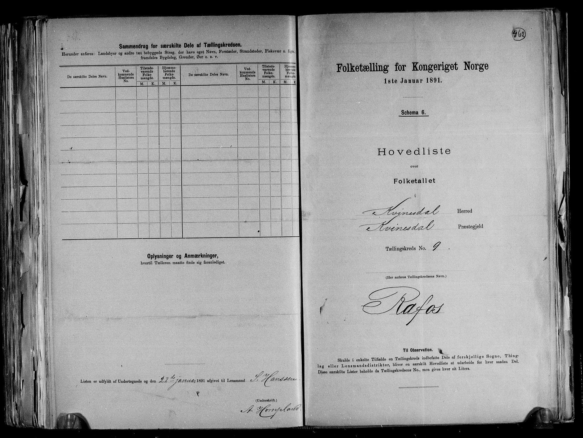 RA, Folketelling 1891 for 1037 Kvinesdal herred, 1891, s. 24
