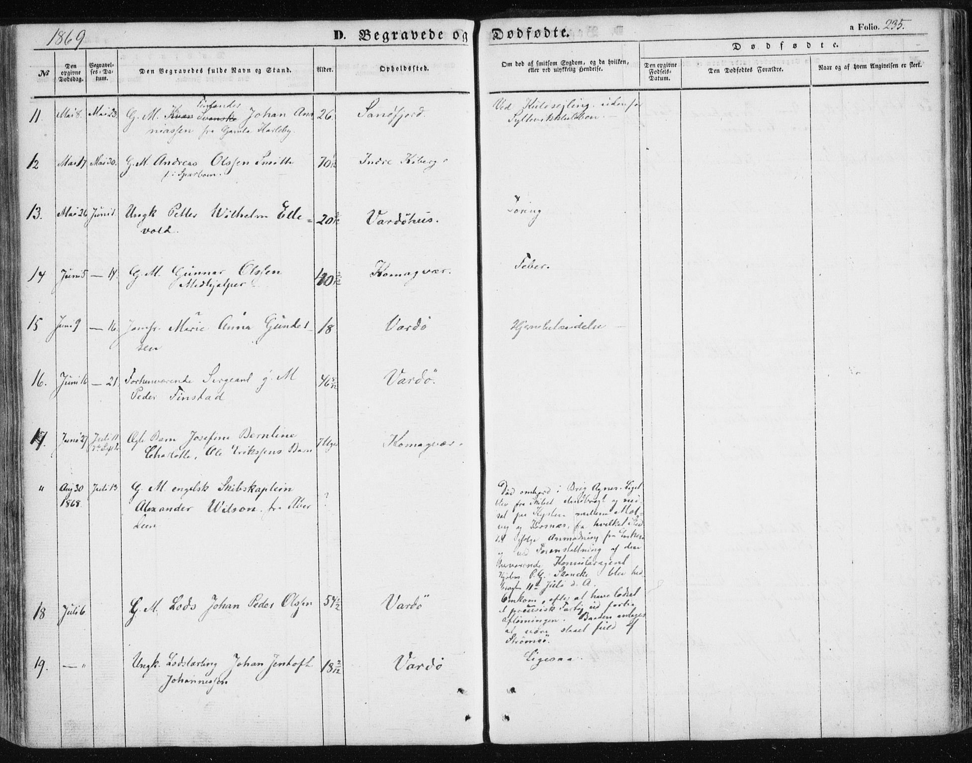 SATØ, Vardø sokneprestkontor, H/Ha/L0004kirke: Ministerialbok nr. 4, 1862-1871, s. 235