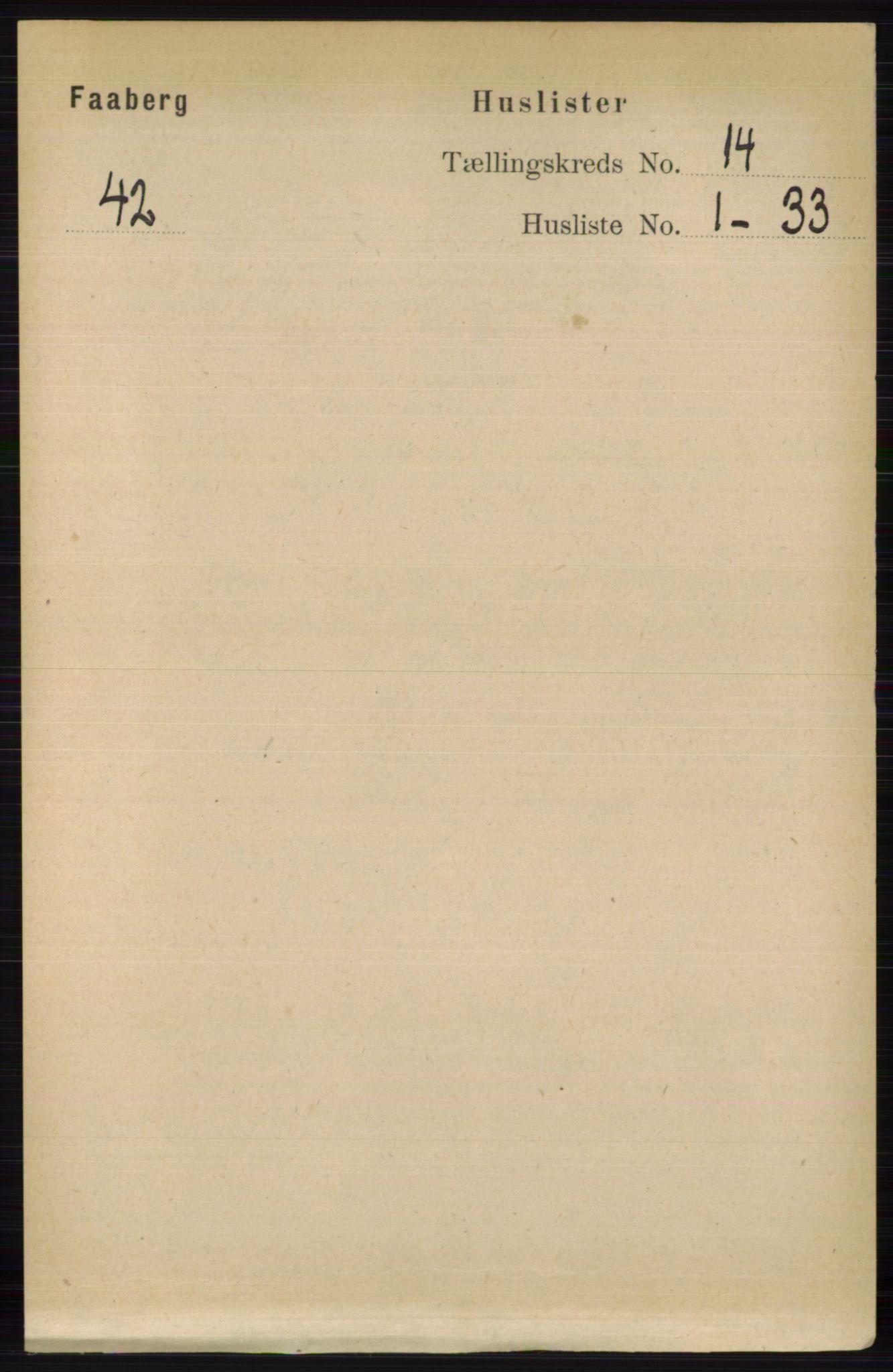 RA, Folketelling 1891 for 0524 Fåberg herred, 1891, s. 5622