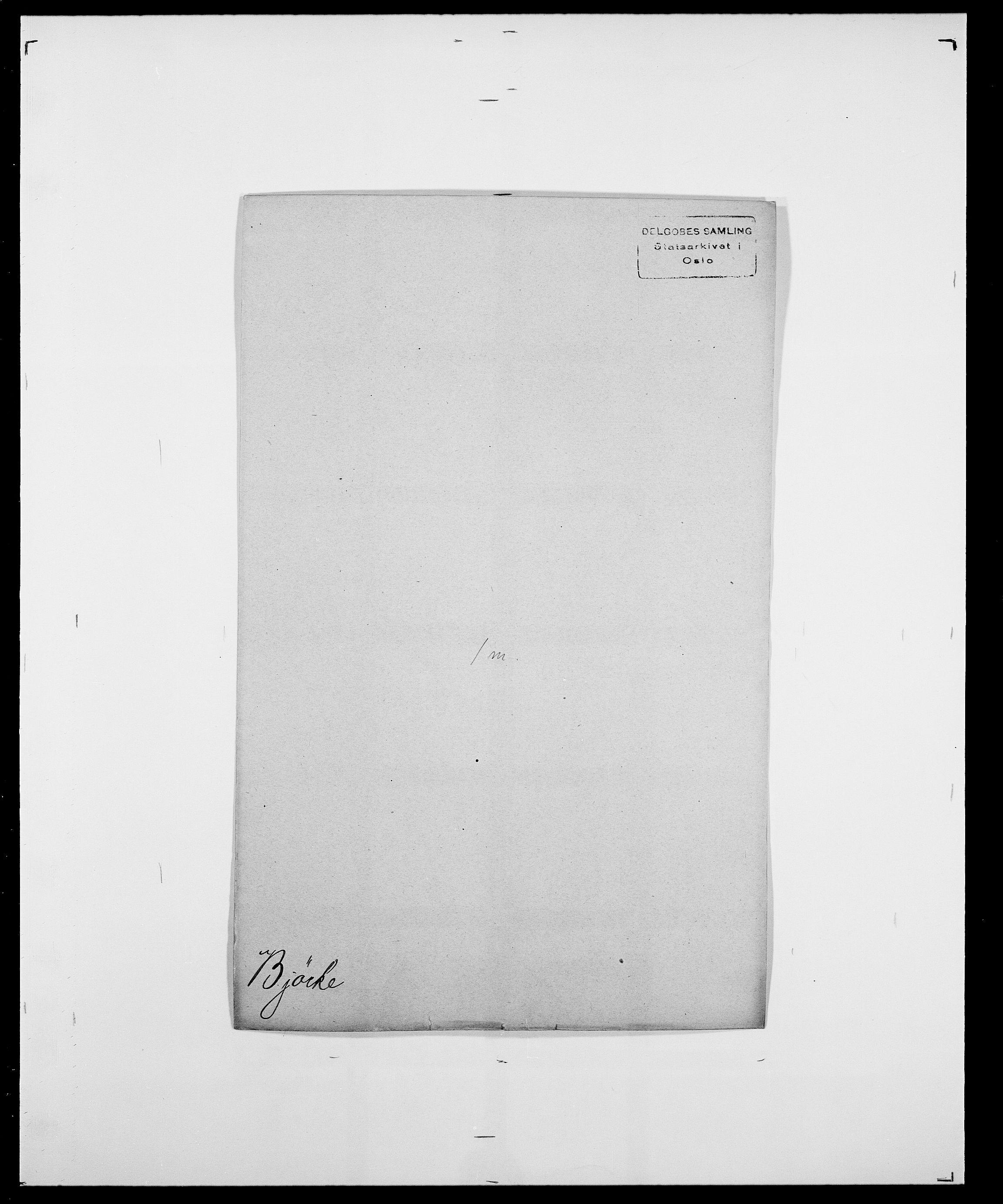 SAO, Delgobe, Charles Antoine - samling, D/Da/L0004: Bergendahl - Blære, s. 446
