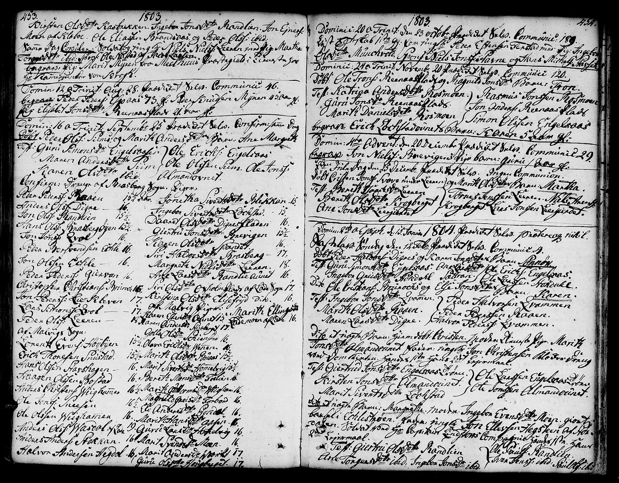 SAT, Ministerialprotokoller, klokkerbøker og fødselsregistre - Sør-Trøndelag, 606/L0282: Ministerialbok nr. 606A02 /3, 1781-1817, s. 453-454