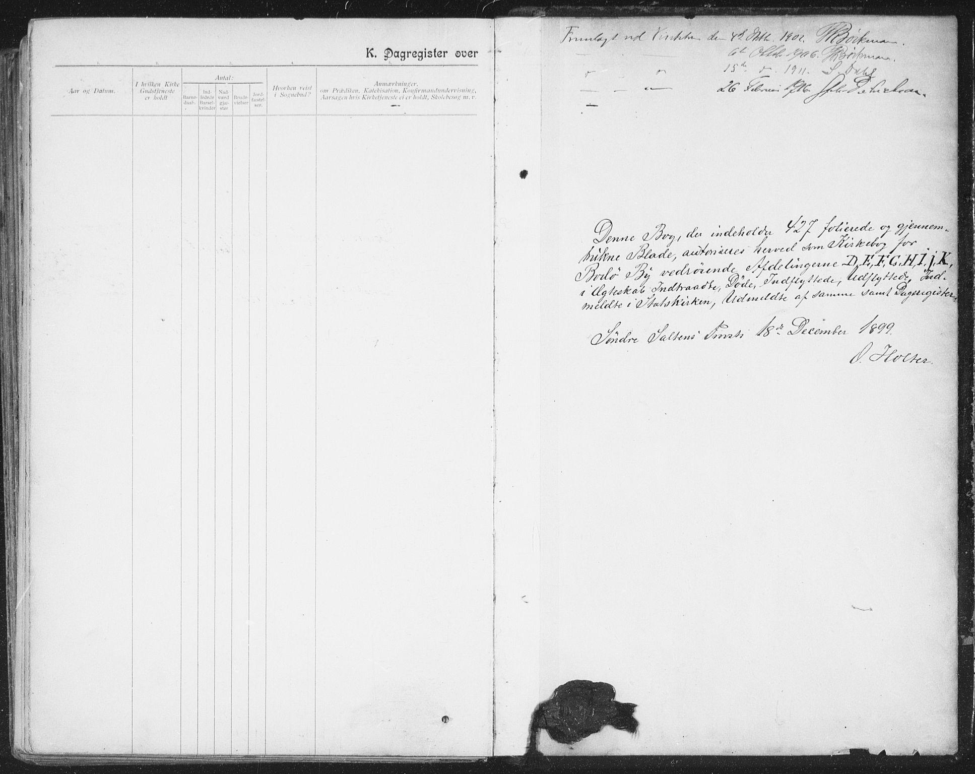 SAT, Ministerialprotokoller, klokkerbøker og fødselsregistre - Nordland, 801/L0012: Ministerialbok nr. 801A12, 1900-1916, s. 397