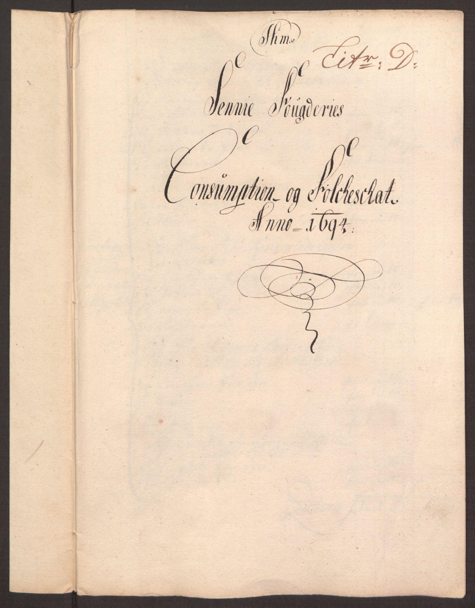 RA, Rentekammeret inntil 1814, Reviderte regnskaper, Fogderegnskap, R68/L4753: Fogderegnskap Senja og Troms, 1694-1696, s. 52