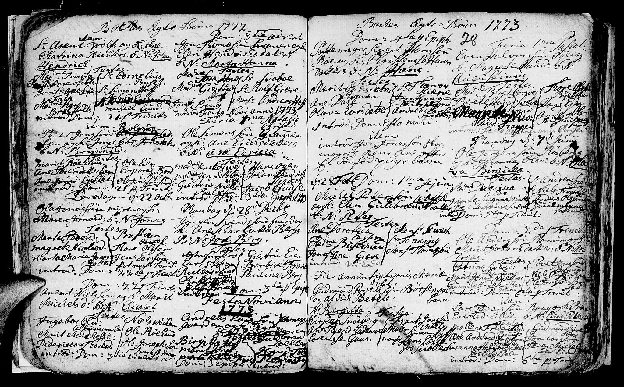 SAT, Ministerialprotokoller, klokkerbøker og fødselsregistre - Sør-Trøndelag, 604/L0218: Klokkerbok nr. 604C01, 1754-1819, s. 28