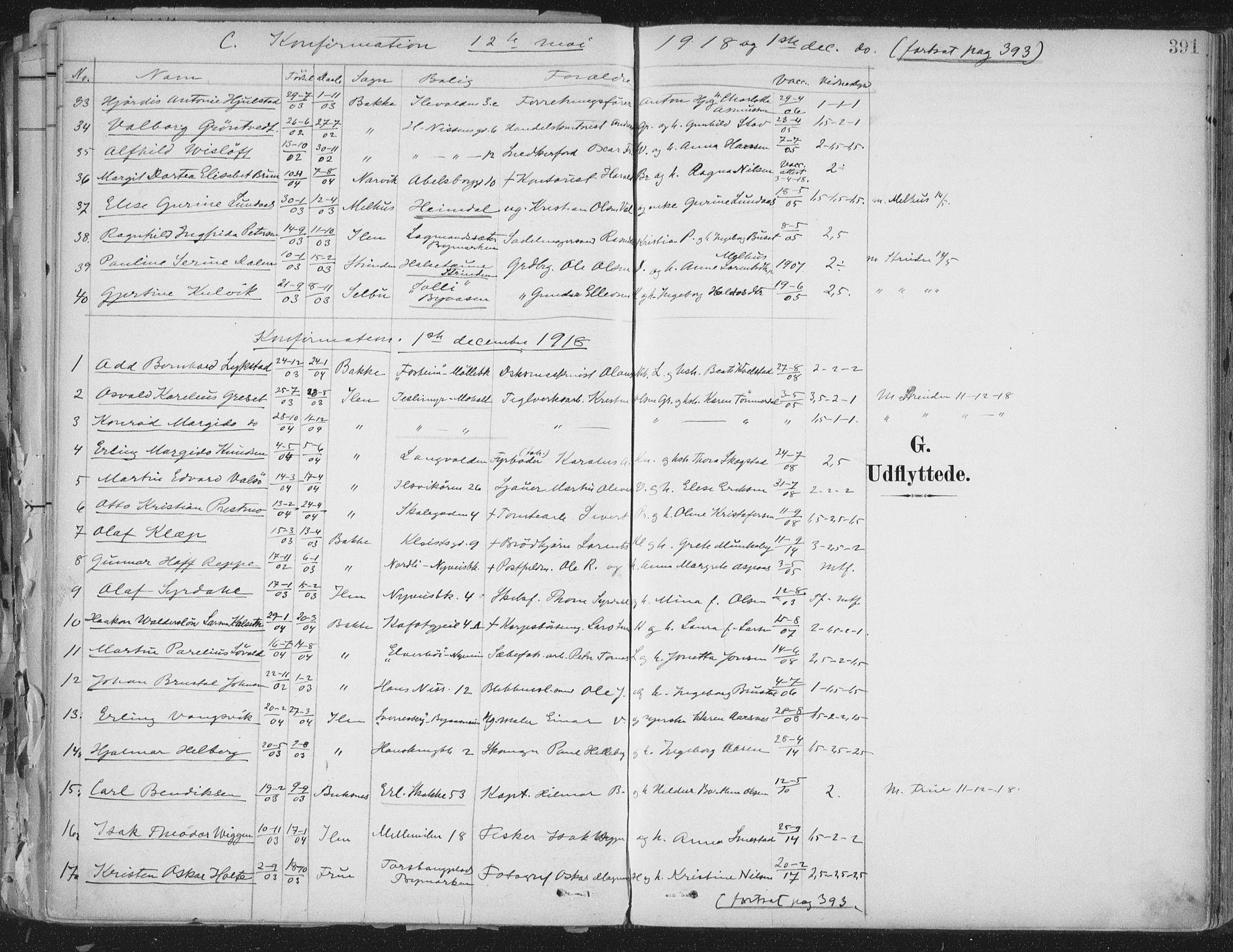 SAT, Ministerialprotokoller, klokkerbøker og fødselsregistre - Sør-Trøndelag, 603/L0167: Ministerialbok nr. 603A06, 1896-1932, s. 391