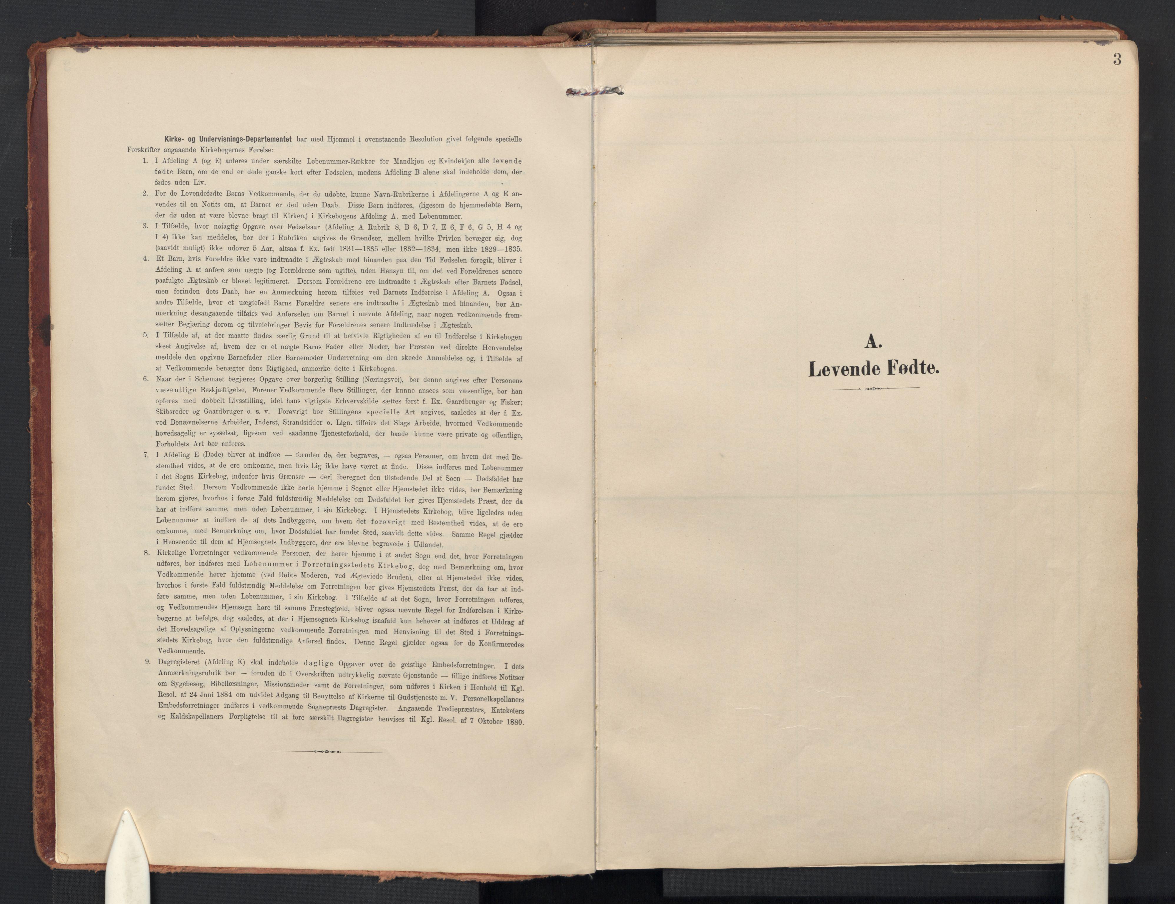 SAO, Drøbak prestekontor Kirkebøker, F/Fb/L0003: Ministerialbok nr. II 3, 1897-1918, s. 3