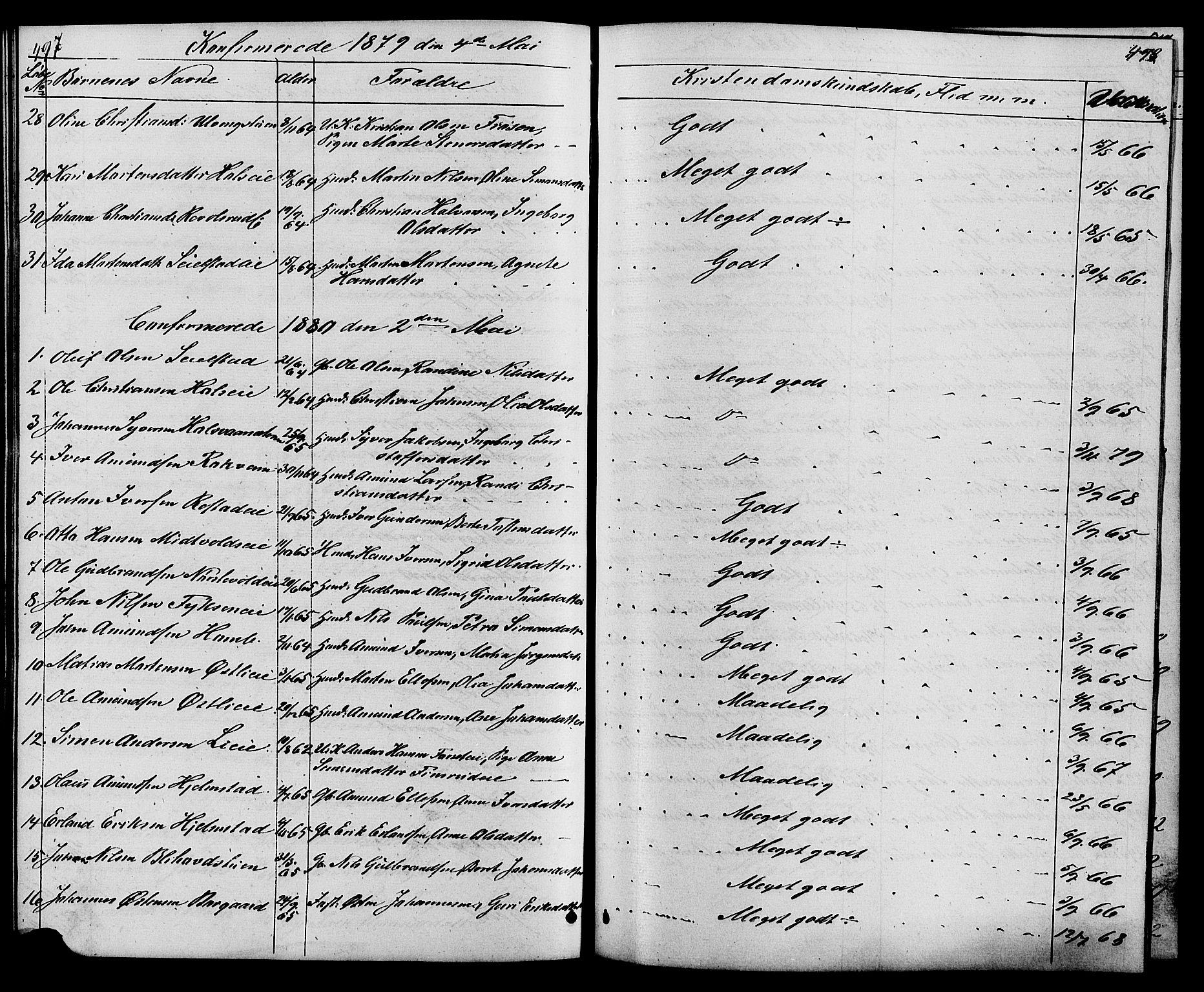 SAH, Østre Gausdal prestekontor, Klokkerbok nr. 1, 1863-1893, s. 497-498
