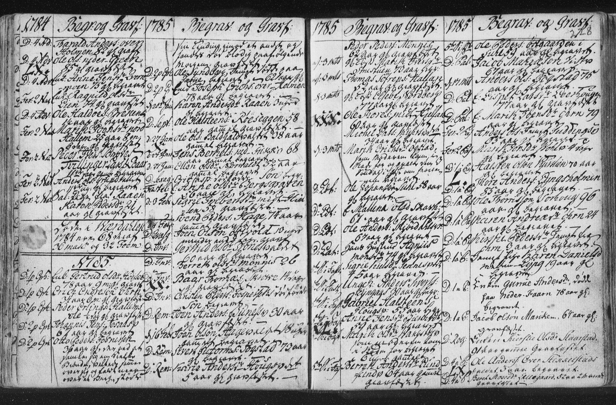 SAT, Ministerialprotokoller, klokkerbøker og fødselsregistre - Nord-Trøndelag, 723/L0232: Ministerialbok nr. 723A03, 1781-1804, s. 228