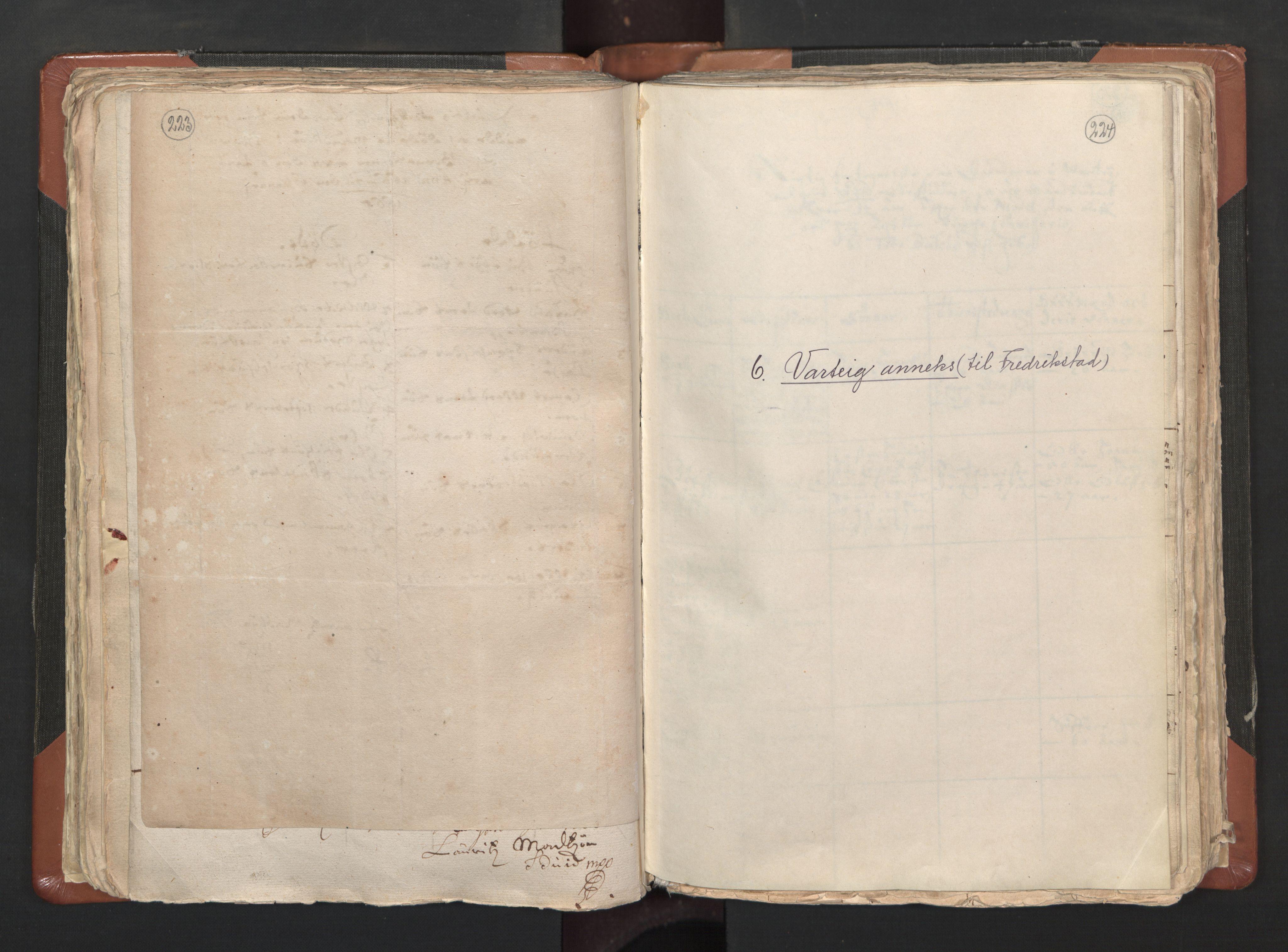 RA, Sogneprestenes manntall 1664-1666, nr. 1: Nedre Borgesyssel prosti, 1664-1666, s. 223-224