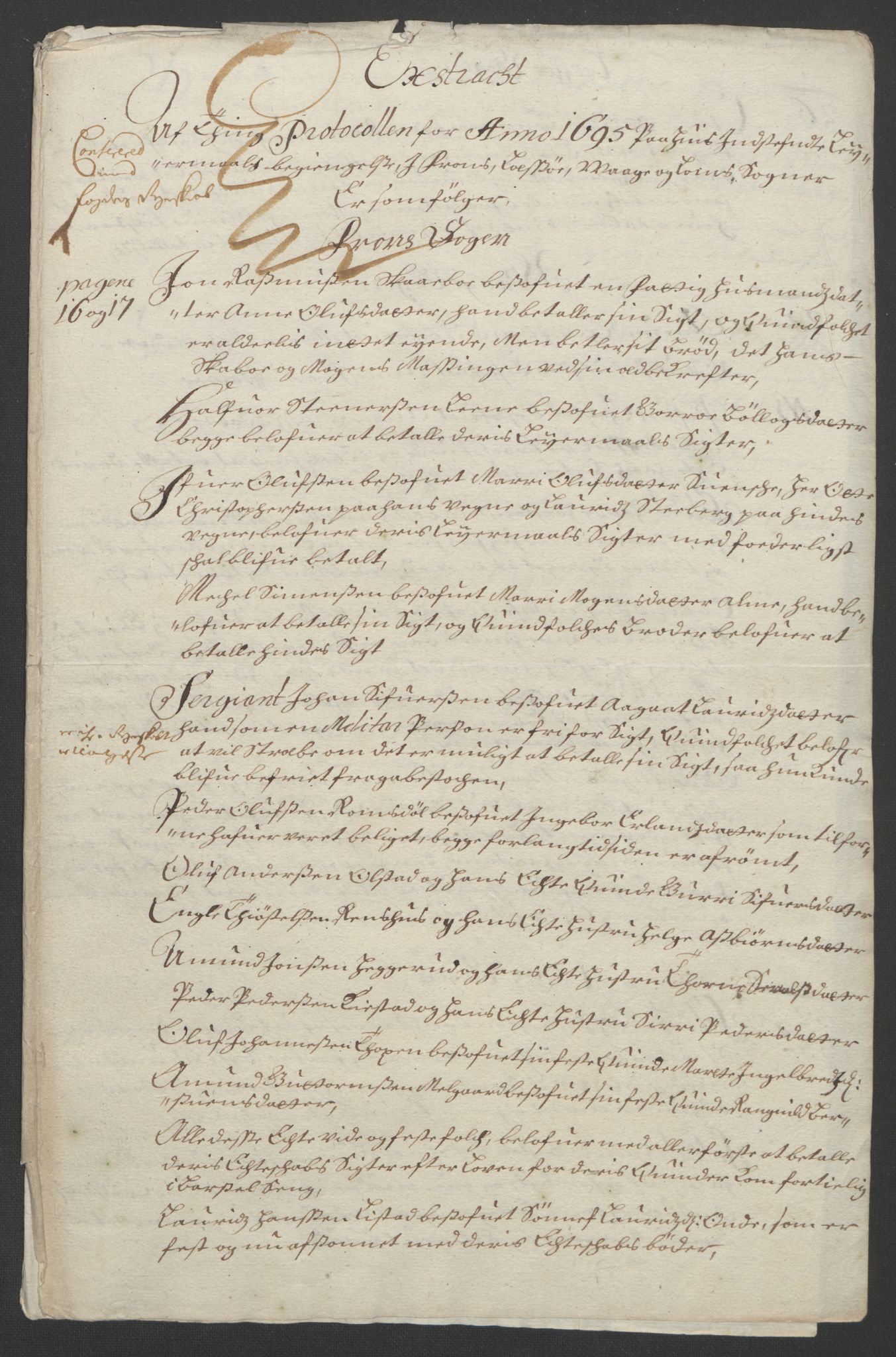 RA, Rentekammeret inntil 1814, Reviderte regnskaper, Fogderegnskap, R17/L1169: Fogderegnskap Gudbrandsdal, 1695, s. 32