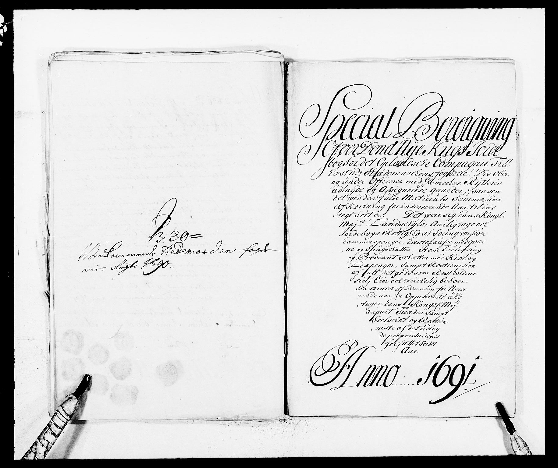 RA, Rentekammeret inntil 1814, Reviderte regnskaper, Fogderegnskap, R16/L1032: Fogderegnskap Hedmark, 1689-1692, s. 1