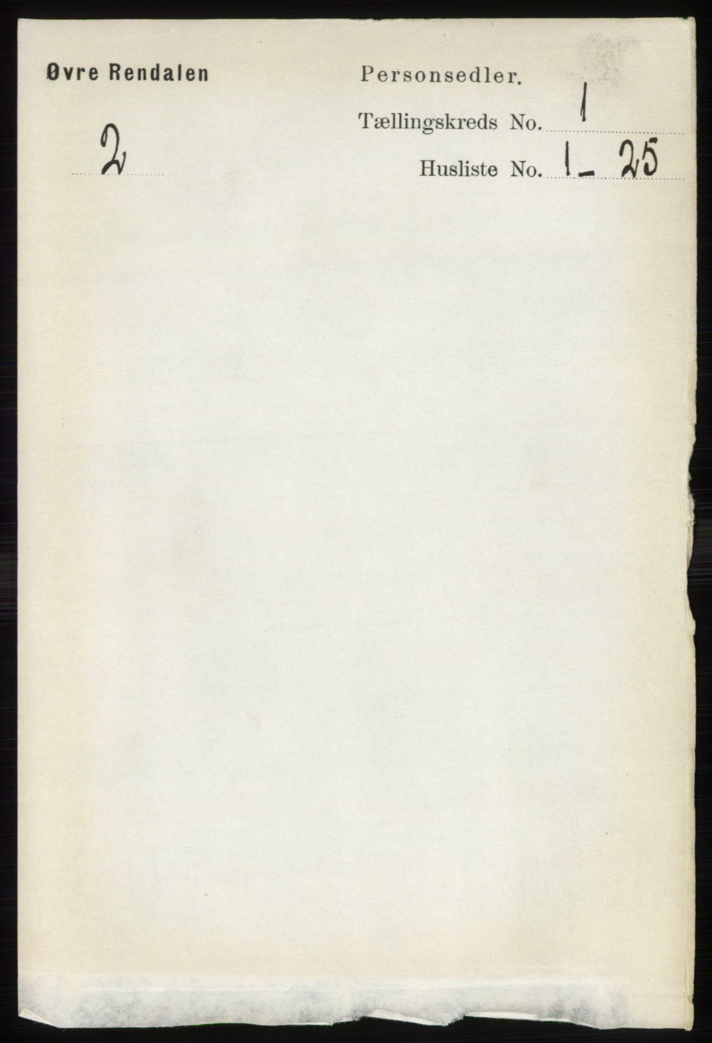 RA, Folketelling 1891 for 0433 Øvre Rendal herred, 1891, s. 68