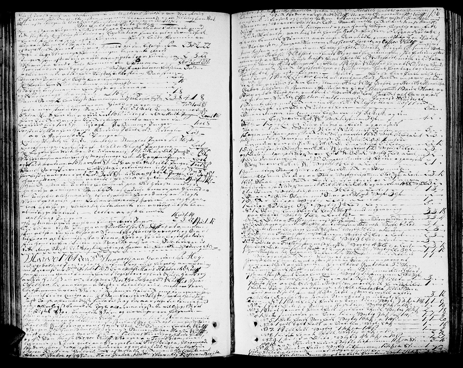SAT, Namdal sorenskriveri, 3/3A/L0010: Skifteprotokoll, 1764-1768, s. 155b-156a