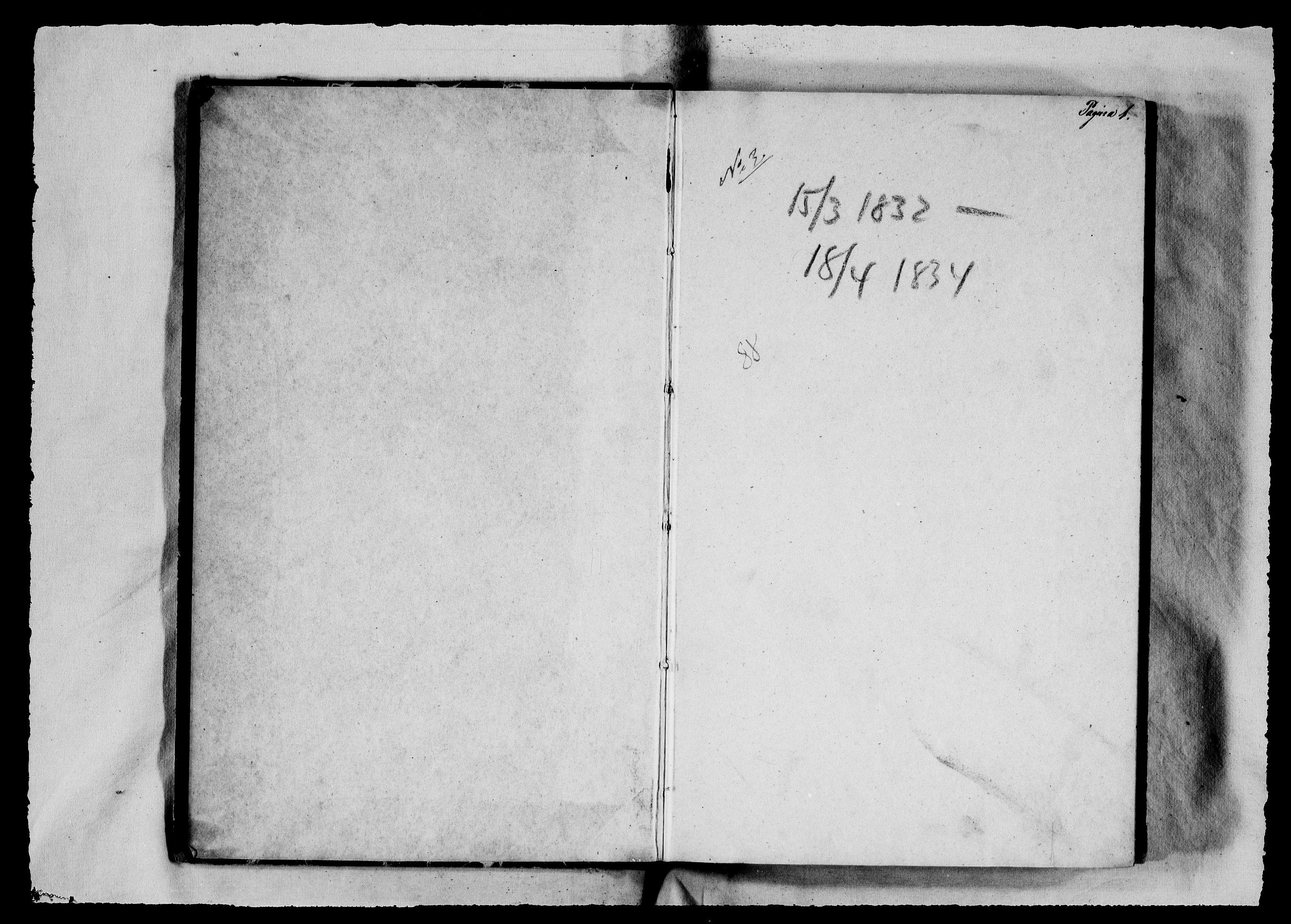 RA, Modums Blaafarveværk, G/Gb/L0088, 1832-1834, s. 2