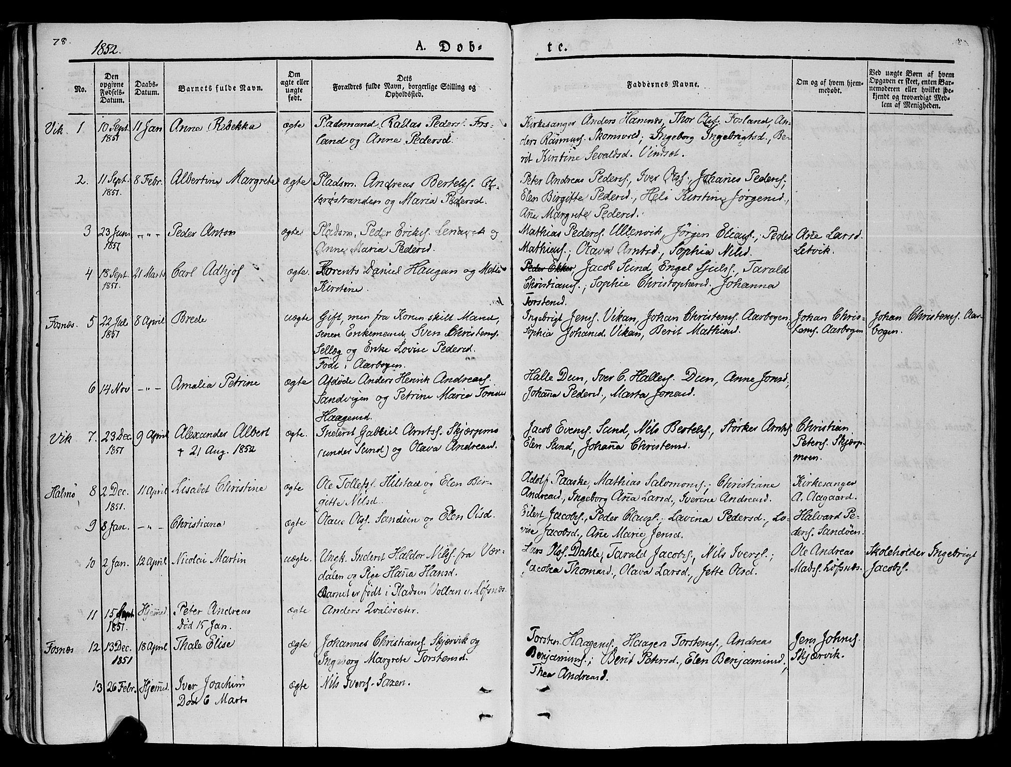 SAT, Ministerialprotokoller, klokkerbøker og fødselsregistre - Nord-Trøndelag, 773/L0614: Ministerialbok nr. 773A05, 1831-1856, s. 78