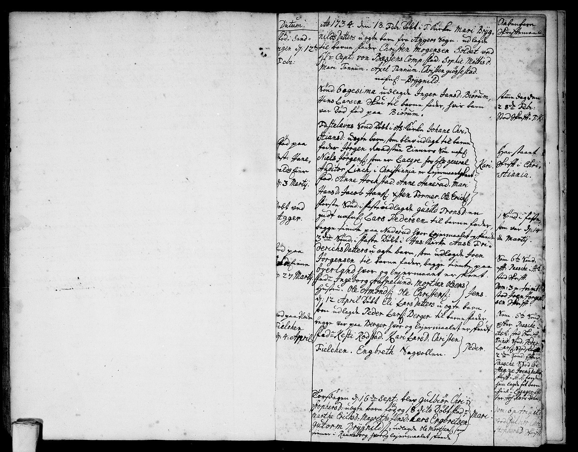 SAO, Asker prestekontor Kirkebøker, F/Fa/L0001: Ministerialbok nr. I 1, 1726-1744, s. 113