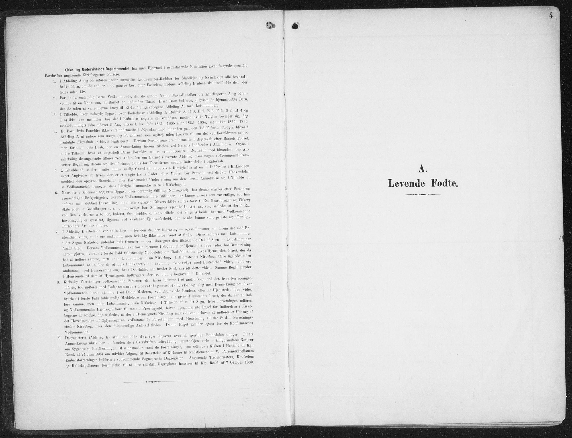 SATØ, Alta sokneprestembete, Ministerialbok nr. 5, 1904-1918, s. 4