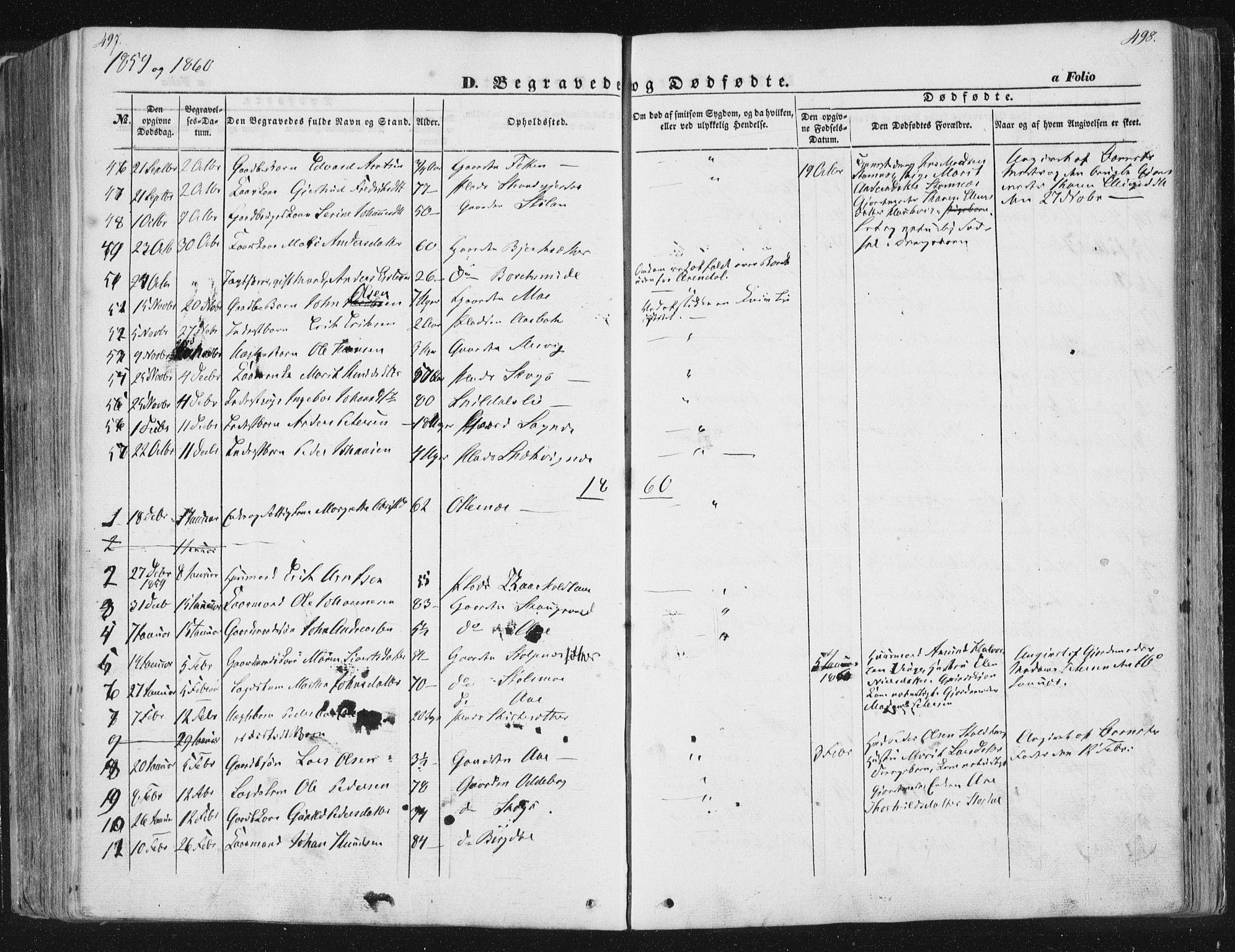SAT, Ministerialprotokoller, klokkerbøker og fødselsregistre - Sør-Trøndelag, 630/L0494: Ministerialbok nr. 630A07, 1852-1868, s. 497-498