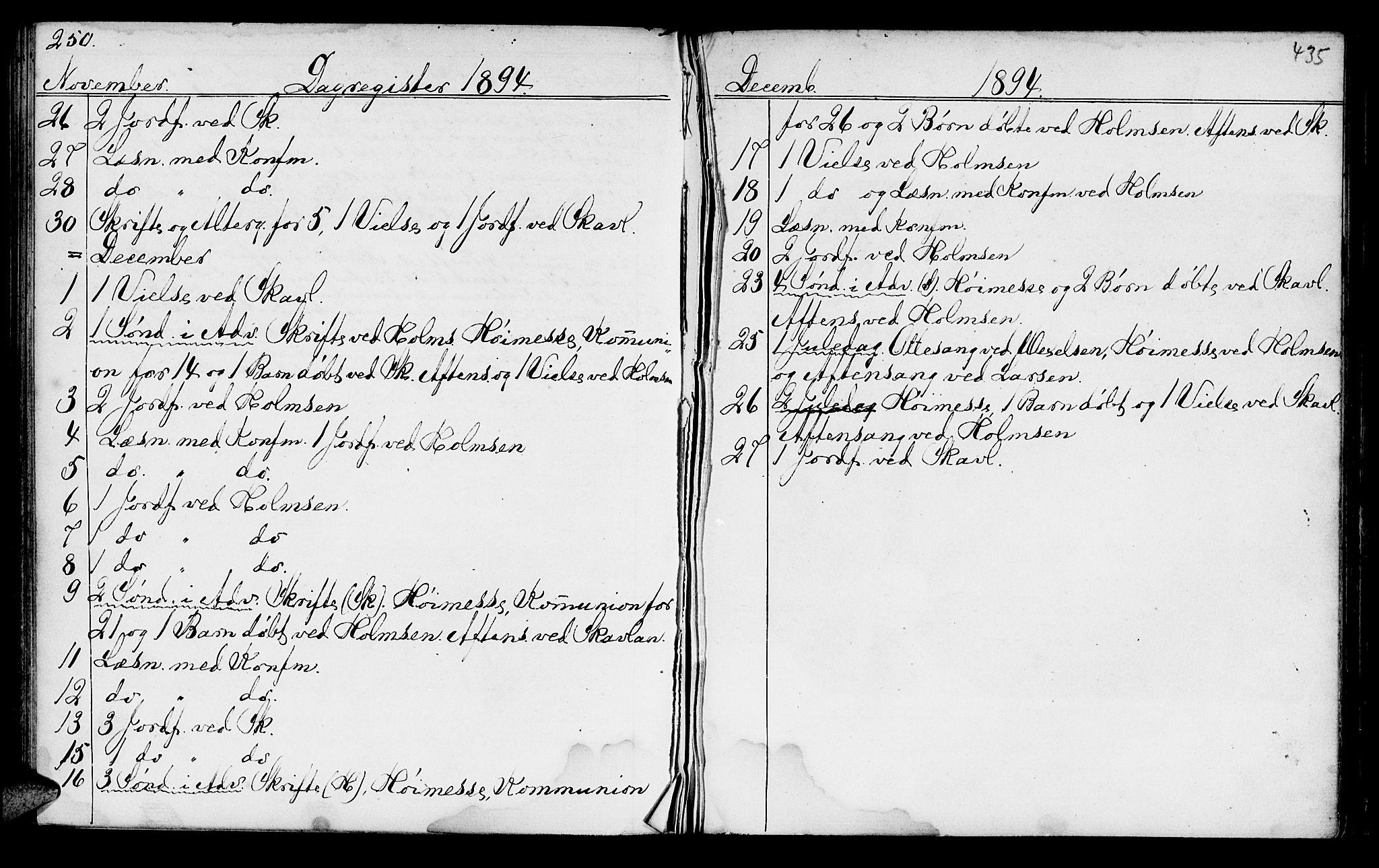 SAT, Ministerialprotokoller, klokkerbøker og fødselsregistre - Sør-Trøndelag, 602/L0140: Klokkerbok nr. 602C08, 1864-1872, s. 434-435