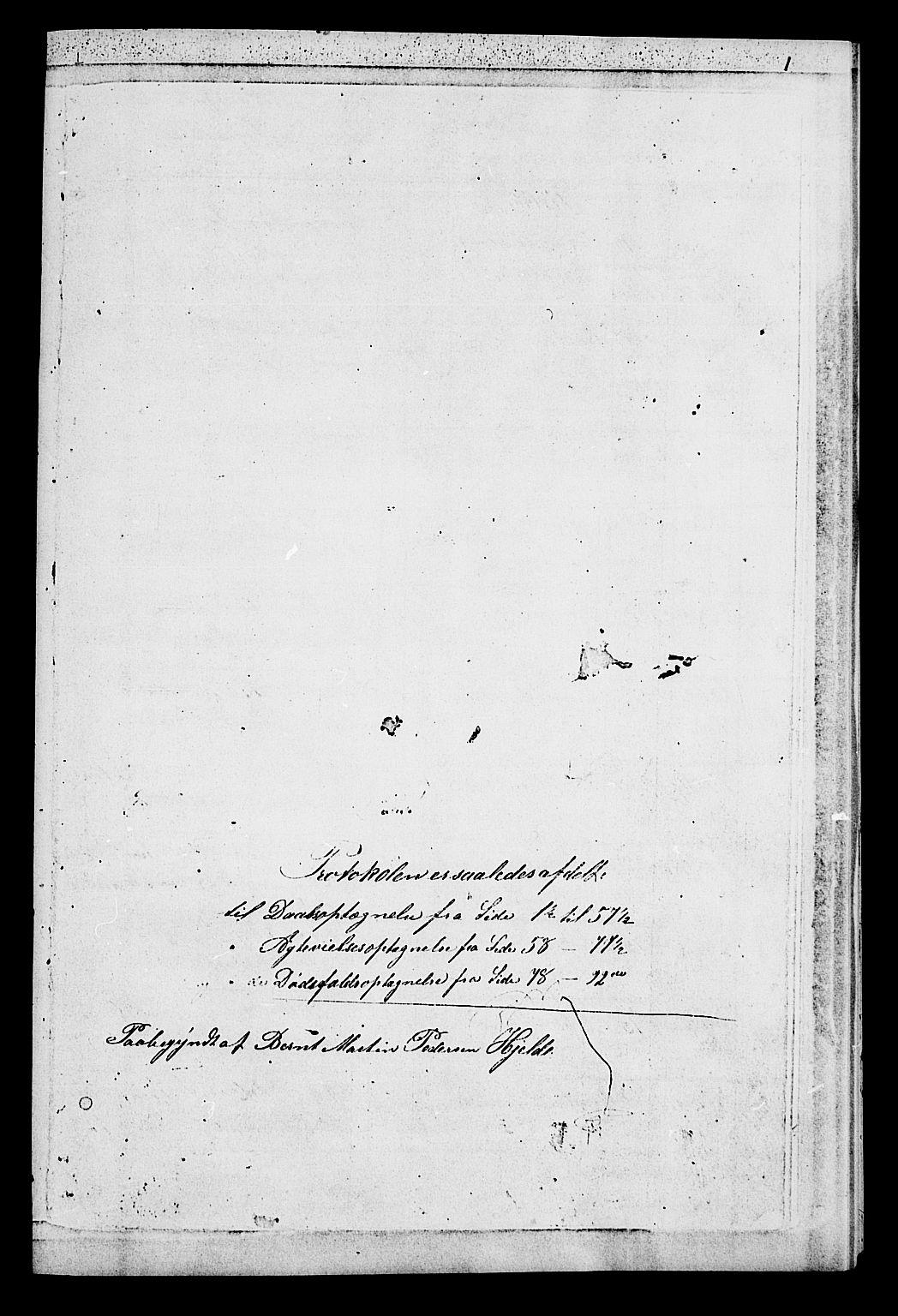 SAT, Ministerialprotokoller, klokkerbøker og fødselsregistre - Sør-Trøndelag, 652/L0653: Klokkerbok nr. 652C01, 1866-1910, s. 1