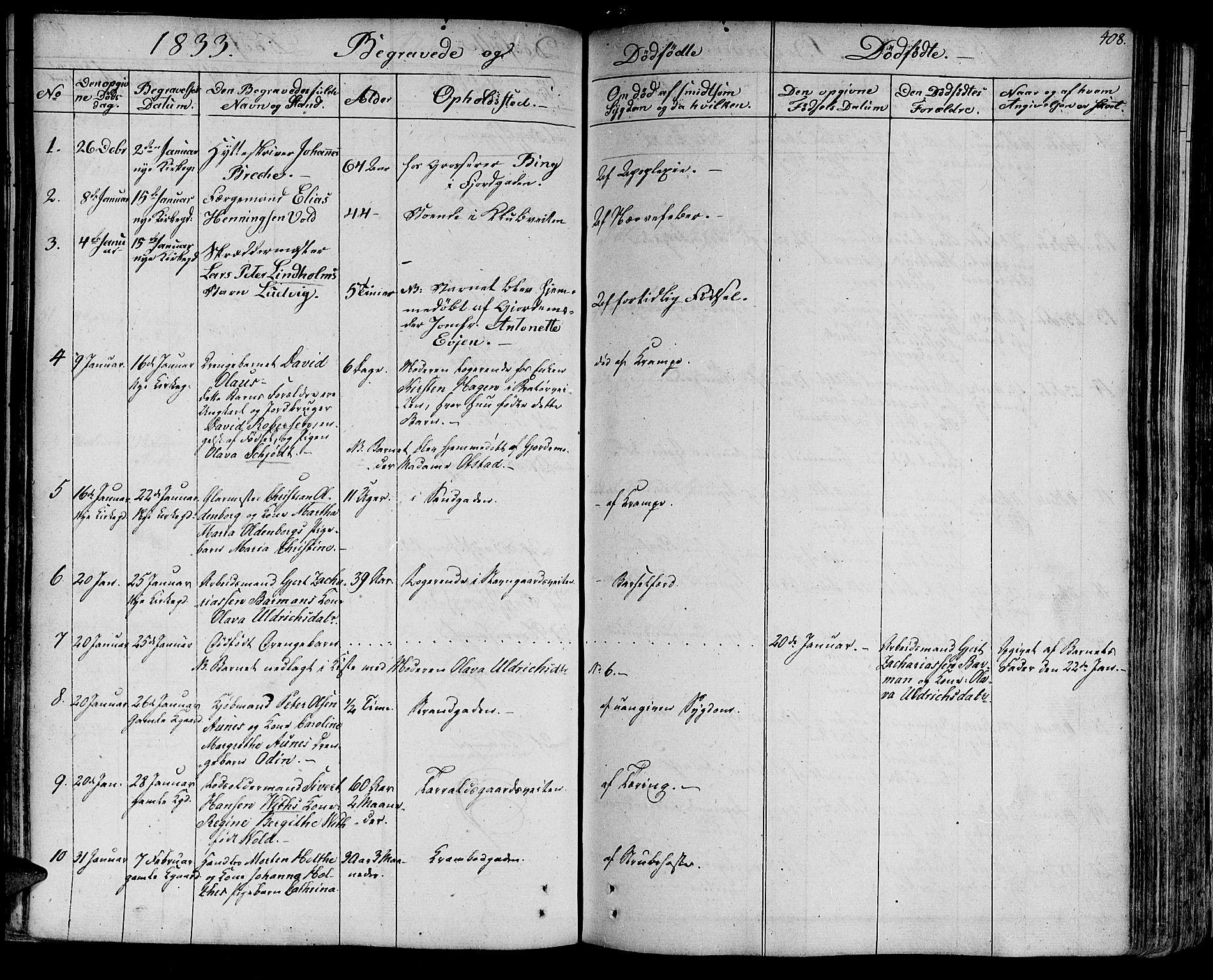 SAT, Ministerialprotokoller, klokkerbøker og fødselsregistre - Sør-Trøndelag, 602/L0109: Ministerialbok nr. 602A07, 1821-1840, s. 408