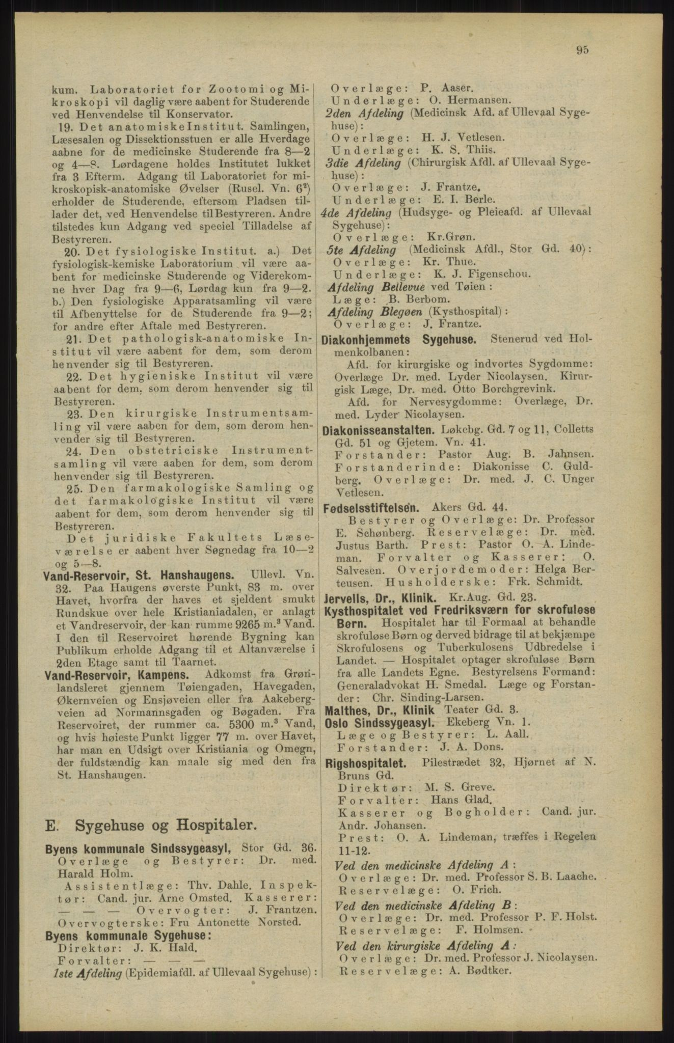 RA, Kristiania adressebok (publikasjon)*, 1904, s. 95