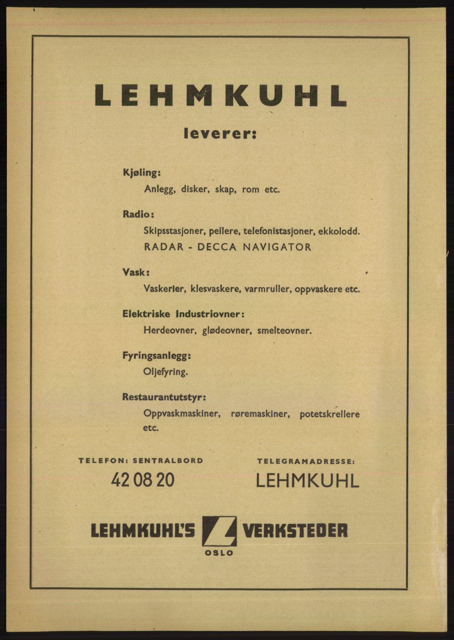 RA, Oslo adressebok (publikasjon)*, 1950, s. upaginert
